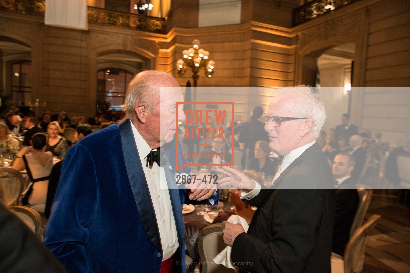 George Shultz, Helgi Tomasson, SAN FRANCISCO BALLET Opening Night Gala: PHENOMENAL - Intermission & Dinner, US. SF City Hall, January 22nd, 2014,Drew Altizer, Drew Altizer Photography, full-service agency, private events, San Francisco photographer, photographer california