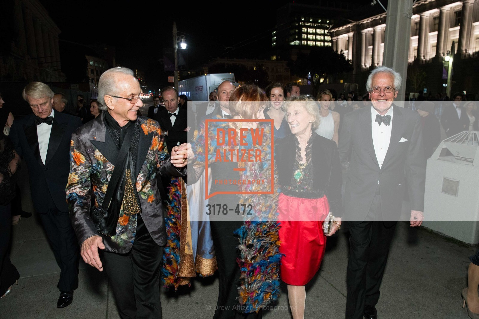 Norman Stone, Norah Stone, Nancy Bechtle, Joachim Bechtle, SAN FRANCISCO BALLET Opening Night Gala: PHENOMENAL - Intermission & Dinner, US. SF City Hall, January 22nd, 2014