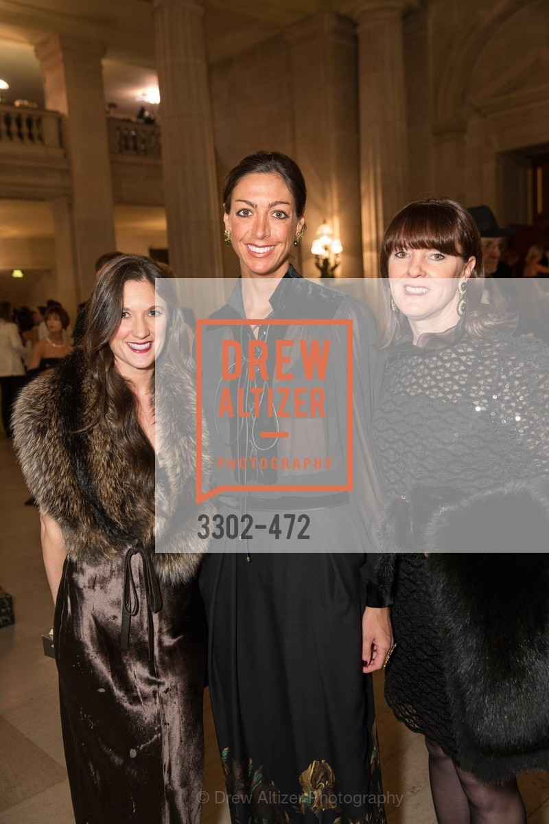 Kerri Clark, Trisha Gregory, Allison Speer, SAN FRANCISCO BALLET Opening Night Gala: PHENOMENAL - Intermission & Dinner, US. SF City Hall, January 22nd, 2014,Drew Altizer, Drew Altizer Photography, full-service agency, private events, San Francisco photographer, photographer california