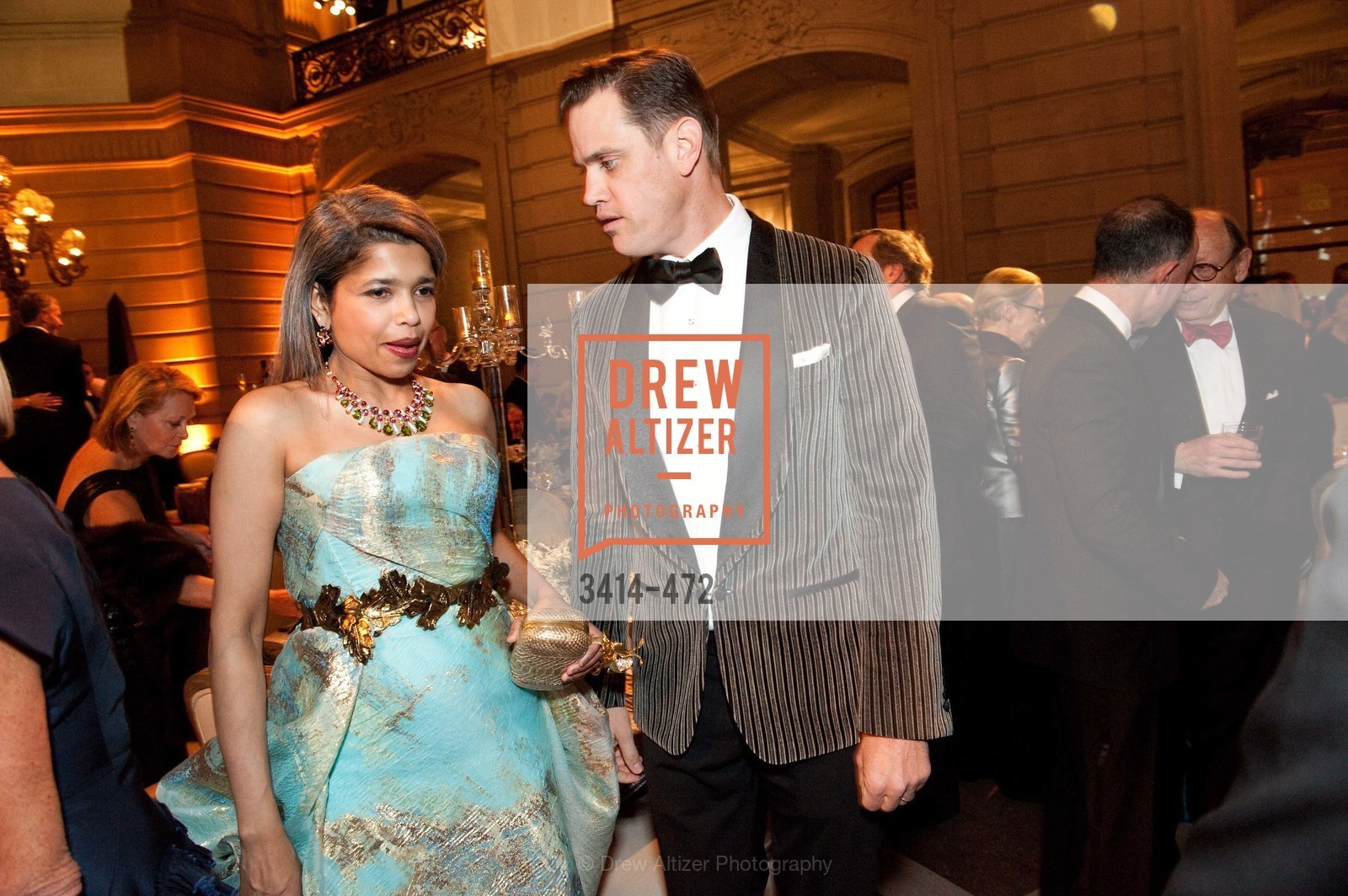 Deepa Pakianathan, Robert Mailer Anderson, SAN FRANCISCO BALLET Opening Night Gala: PHENOMENAL - Intermission & Dinner, US. SF City Hall, January 22nd, 2014,Drew Altizer, Drew Altizer Photography, full-service agency, private events, San Francisco photographer, photographer california