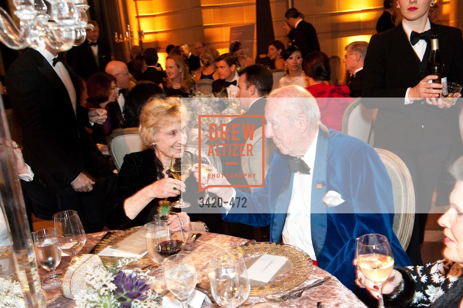 Nancy Bechtle, George Shultz, SAN FRANCISCO BALLET Opening Night Gala: PHENOMENAL - Intermission & Dinner, US. SF City Hall, January 22nd, 2014,Drew Altizer, Drew Altizer Photography, full-service agency, private events, San Francisco photographer, photographer california