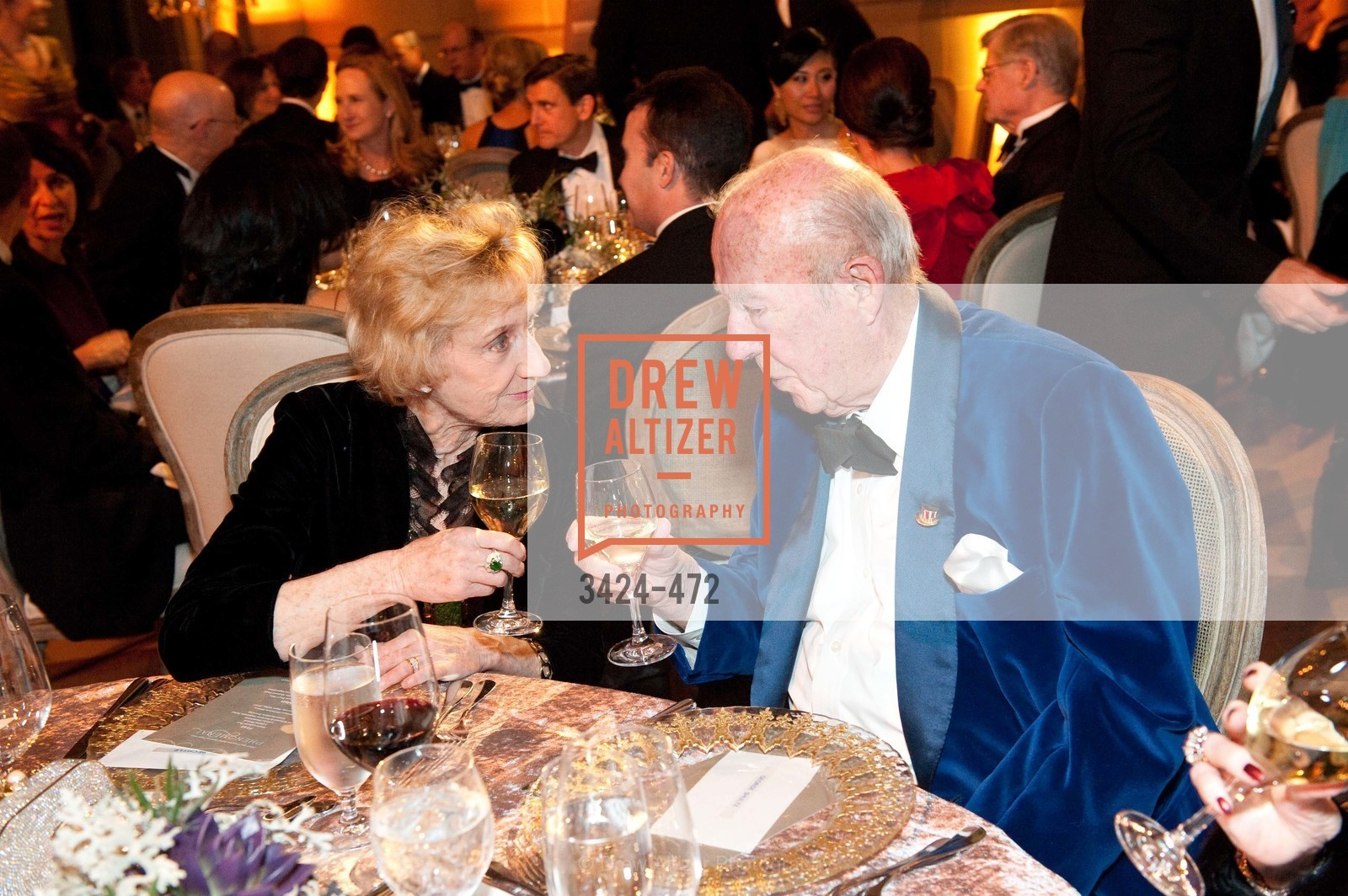 Nancy Bechtle, George Shultz, SAN FRANCISCO BALLET Opening Night Gala: PHENOMENAL - Intermission & Dinner, US. SF City Hall, January 22nd, 2014,Drew Altizer, Drew Altizer Photography, full-service event agency, private events, San Francisco photographer, photographer California