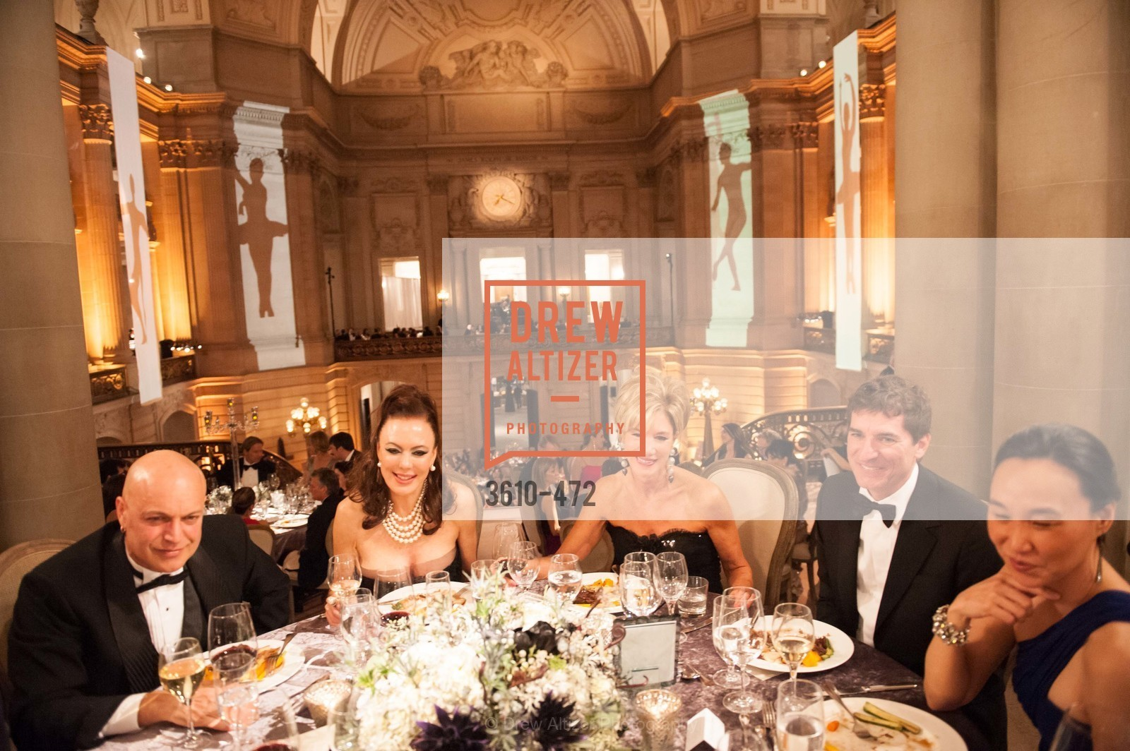 Freddy Clark, Margaret Mitchell, Mary Poland, Patrick King, Carolyn Chang, SAN FRANCISCO BALLET Opening Night Gala: PHENOMENAL - Intermission & Dinner, US. SF City Hall, January 22nd, 2014,Drew Altizer, Drew Altizer Photography, full-service agency, private events, San Francisco photographer, photographer california
