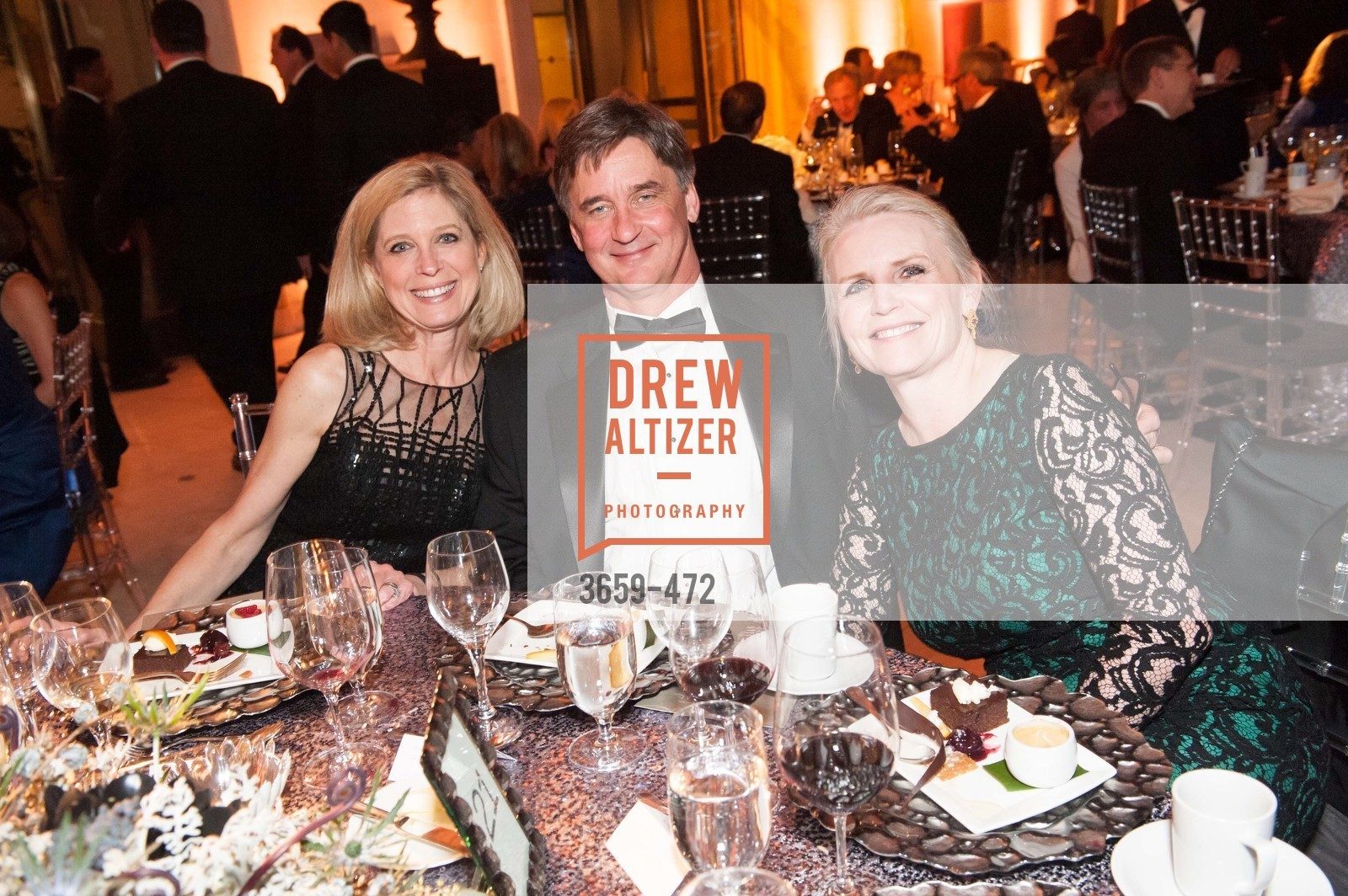 Debbie Messemer, Mark Conrad, Laura Stein, SAN FRANCISCO BALLET Opening Night Gala: PHENOMENAL - Intermission & Dinner, US. SF City Hall, January 22nd, 2014,Drew Altizer, Drew Altizer Photography, full-service agency, private events, San Francisco photographer, photographer california
