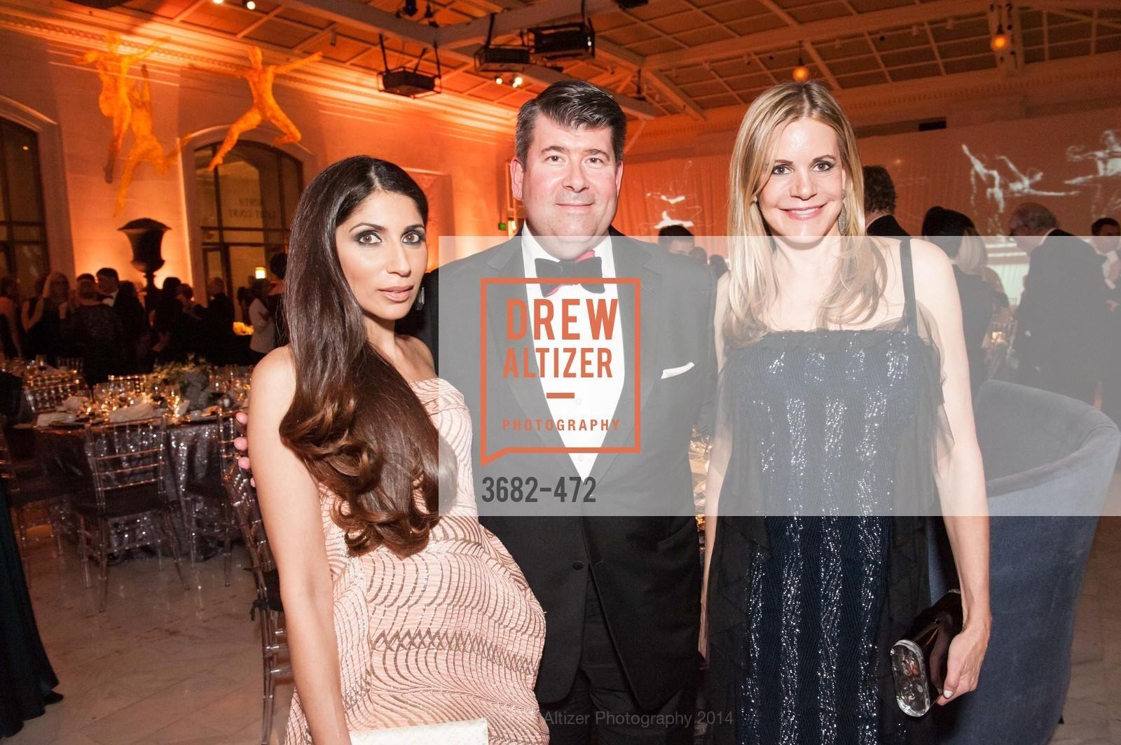 Sobia Shaikh, Alan Morrell, Mary Beth Shimmon, SAN FRANCISCO BALLET Opening Night Gala: PHENOMENAL - Intermission & Dinner, US. SF City Hall, January 22nd, 2014,Drew Altizer, Drew Altizer Photography, full-service agency, private events, San Francisco photographer, photographer california