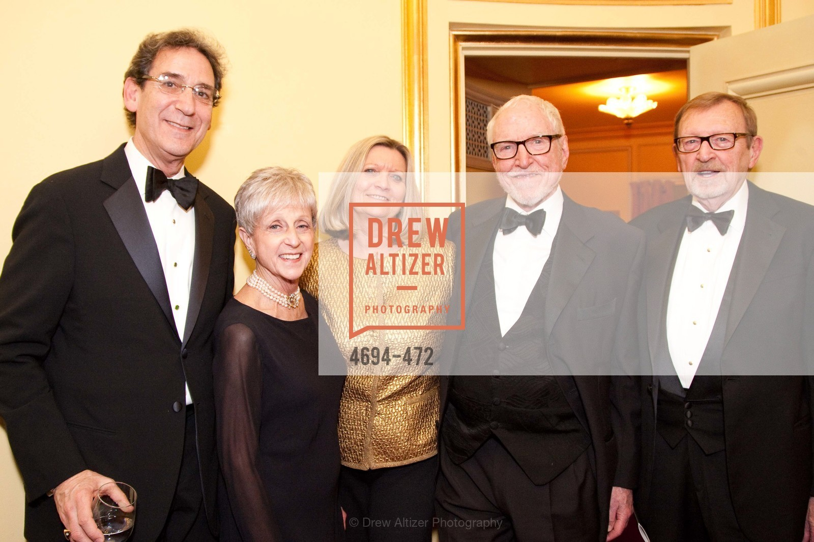 Fred Levin, Nancy Livingston, James Hormel, SAN FRANCISCO BALLET Opening Night Gala: PHENOMENAL - Intermission & Dinner, US. SF City Hall, January 22nd, 2014,Drew Altizer, Drew Altizer Photography, full-service agency, private events, San Francisco photographer, photographer california