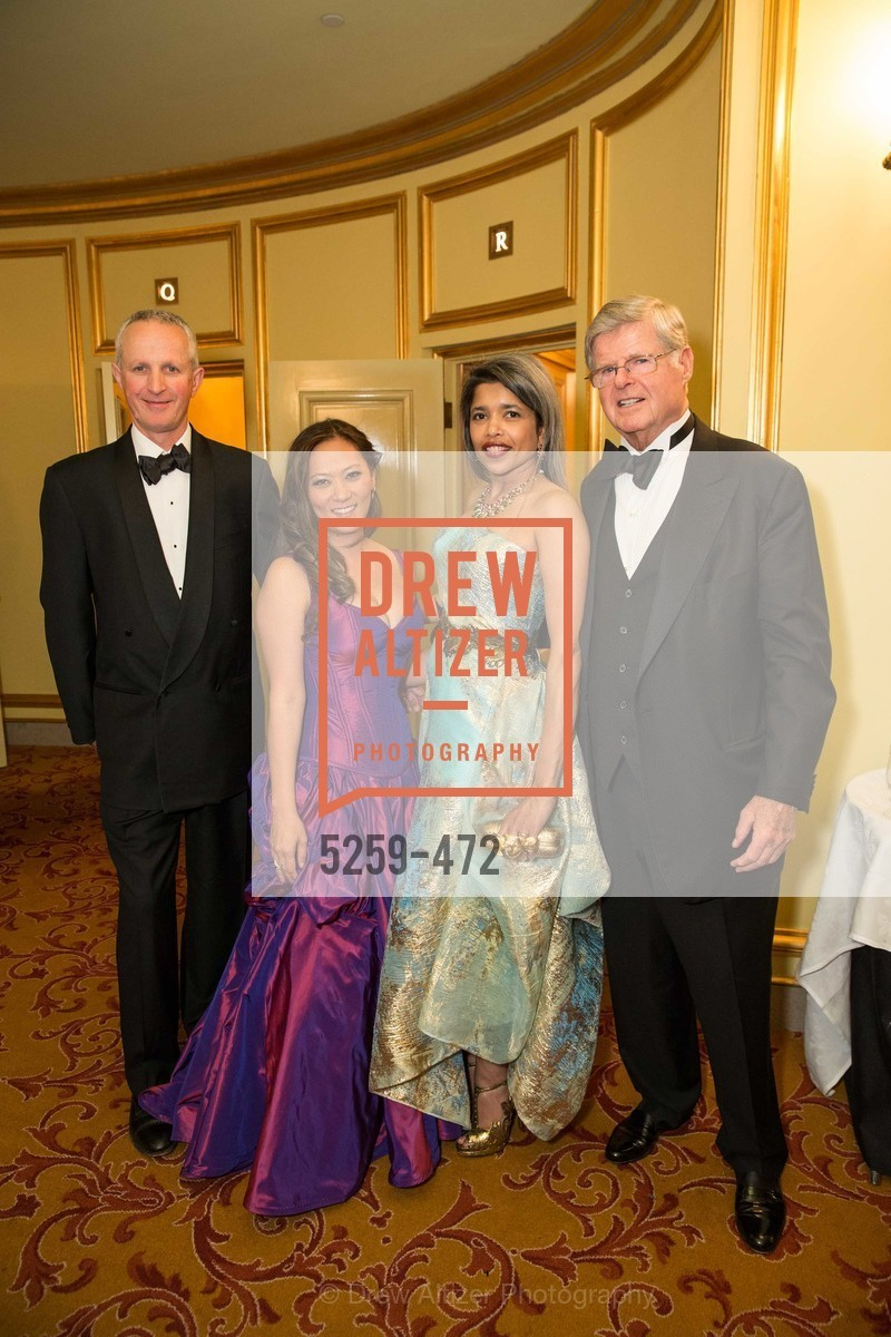 Phil Pemberton, Elizabeth Fullerton, Deepa Pakianathan, Richard Barker, SAN FRANCISCO BALLET Opening Night Gala: PHENOMENAL - Intermission & Dinner, US. SF City Hall, January 22nd, 2014,Drew Altizer, Drew Altizer Photography, full-service agency, private events, San Francisco photographer, photographer california