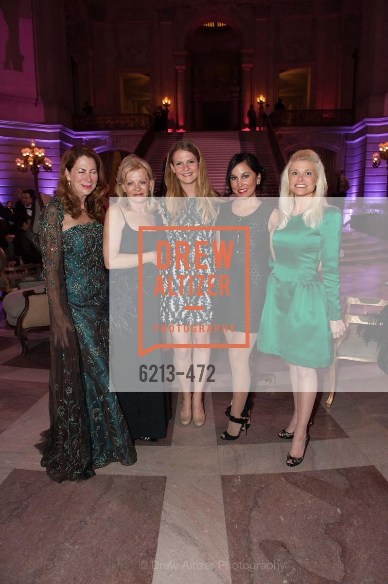Patricia Ferrin Loucks, Alison Carlson, Kelsea Carlson, Michelle Molfino, Lori Shigekane, SAN FRANCISCO BALLET Opening Night Gala: PHENOMENAL - Intermission & Dinner, US. SF City Hall, January 22nd, 2014