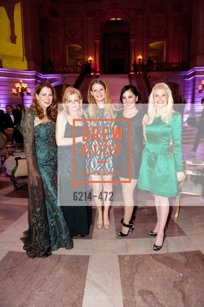 Patricia Ferrin Loucks, Alison Carlson, Kelsea Carlson, Michelle Molfino, Lori Shigekane, SAN FRANCISCO BALLET Opening Night Gala: PHENOMENAL - Intermission & Dinner, US. SF City Hall, January 22nd, 2014,Drew Altizer, Drew Altizer Photography, full-service agency, private events, San Francisco photographer, photographer california