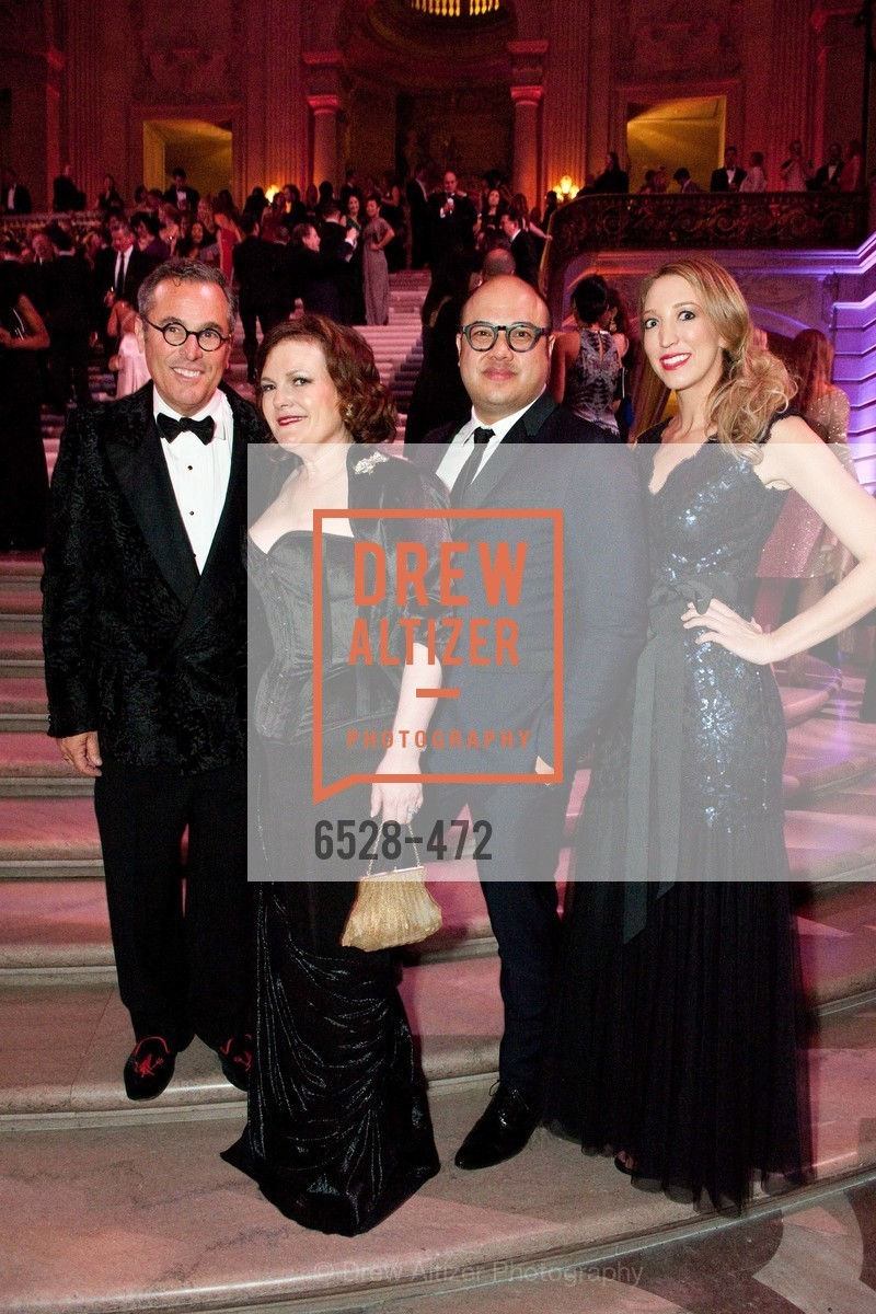Ricky Serbin, Jennifer Raiser, Jay Phillips, Kelly Larkin, SAN FRANCISCO BALLET Opening Night Gala: PHENOMENAL - Intermission & Dinner, US. SF City Hall, January 22nd, 2014,Drew Altizer, Drew Altizer Photography, full-service agency, private events, San Francisco photographer, photographer california