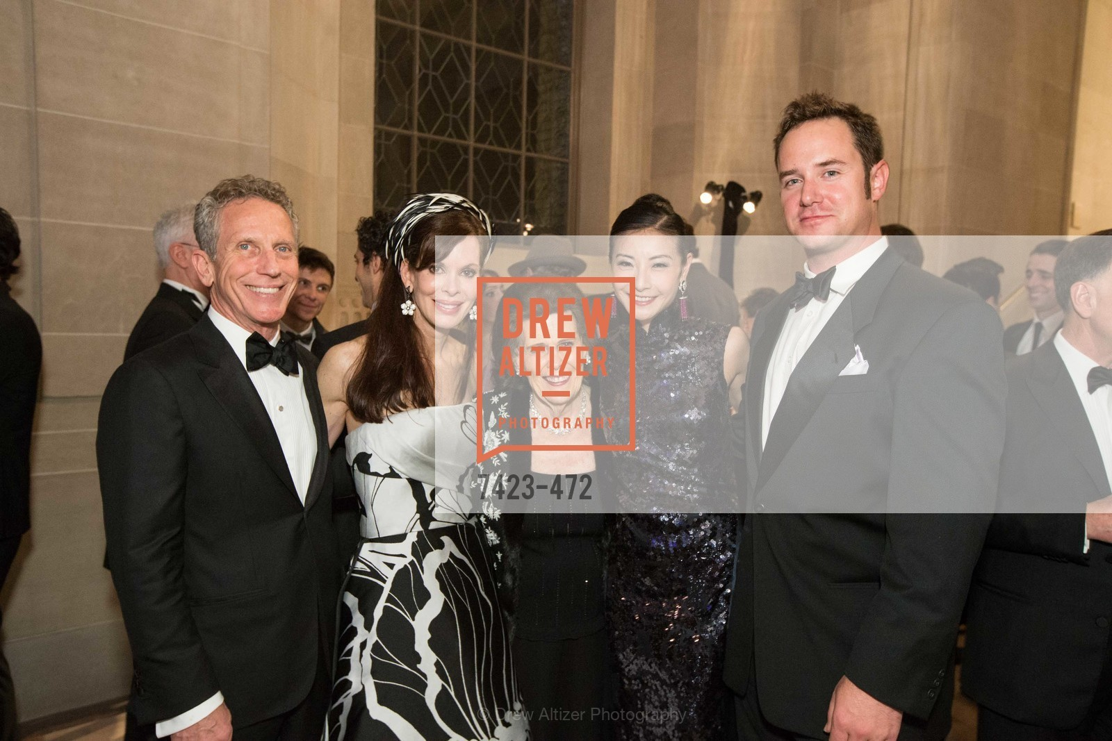 Jim Marver, Stephanie Ejabat, Lucy Jewett, Yuan Yuan Tan, Drew Weyerhaeuser, SAN FRANCISCO BALLET Opening Night Gala: PHENOMENAL - Intermission & Dinner, US. SF City Hall, January 22nd, 2014,Drew Altizer, Drew Altizer Photography, full-service agency, private events, San Francisco photographer, photographer california