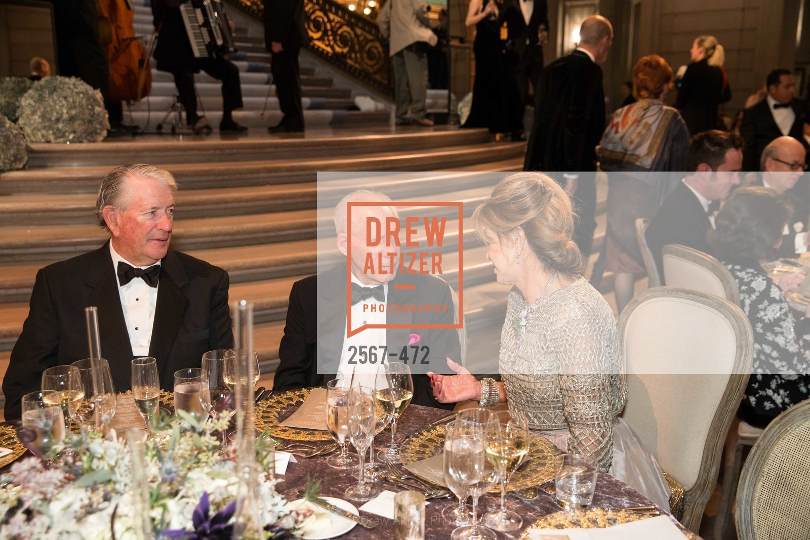 Jack Mettler, Gary Shansby, Lonna Wais, SAN FRANCISCO BALLET Opening Night Gala: PHENOMENAL - Intermission & Dinner, US. SF City Hall, January 22nd, 2014,Drew Altizer, Drew Altizer Photography, full-service agency, private events, San Francisco photographer, photographer california