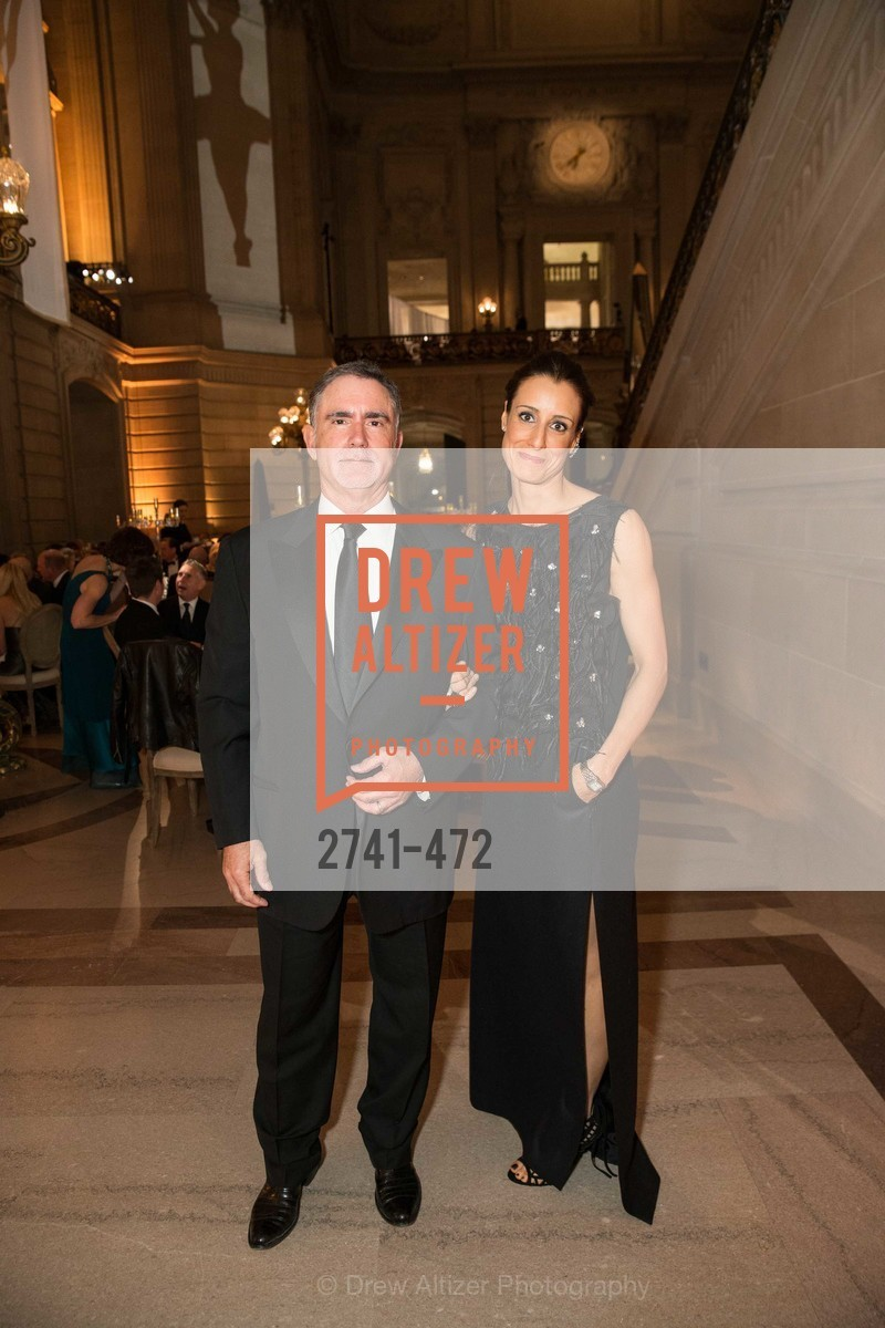 Phil Bronstein, Christine Bronstein, SAN FRANCISCO BALLET Opening Night Gala: PHENOMENAL - Intermission & Dinner, US. SF City Hall, January 22nd, 2014