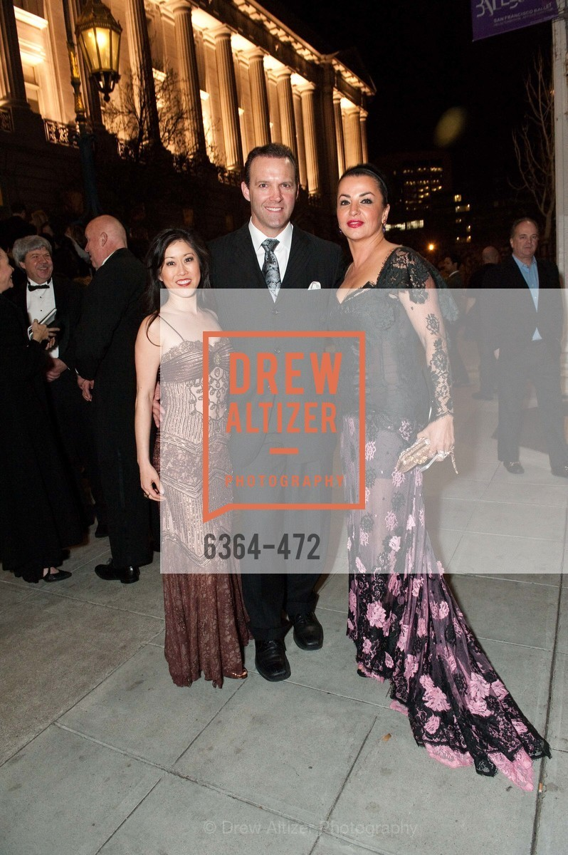Kristi Yamaguchi, Bret Hedican, Azadeh Riaz, SAN FRANCISCO BALLET Opening Night Gala: PHENOMENAL - Intermission & Dinner, US. SF City Hall, January 22nd, 2014,Drew Altizer, Drew Altizer Photography, full-service agency, private events, San Francisco photographer, photographer california