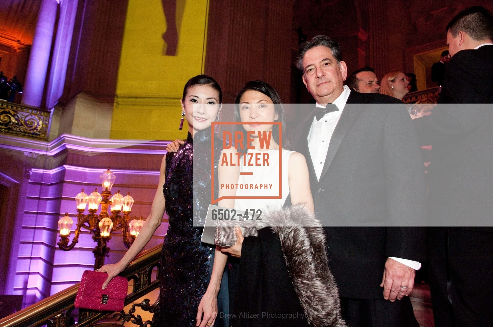 Yuan Yuan Tan, Xiapei Gelb, Andrew Gelb, SAN FRANCISCO BALLET Opening Night Gala: PHENOMENAL - Intermission & Dinner, US. SF City Hall, January 22nd, 2014,Drew Altizer, Drew Altizer Photography, full-service agency, private events, San Francisco photographer, photographer california