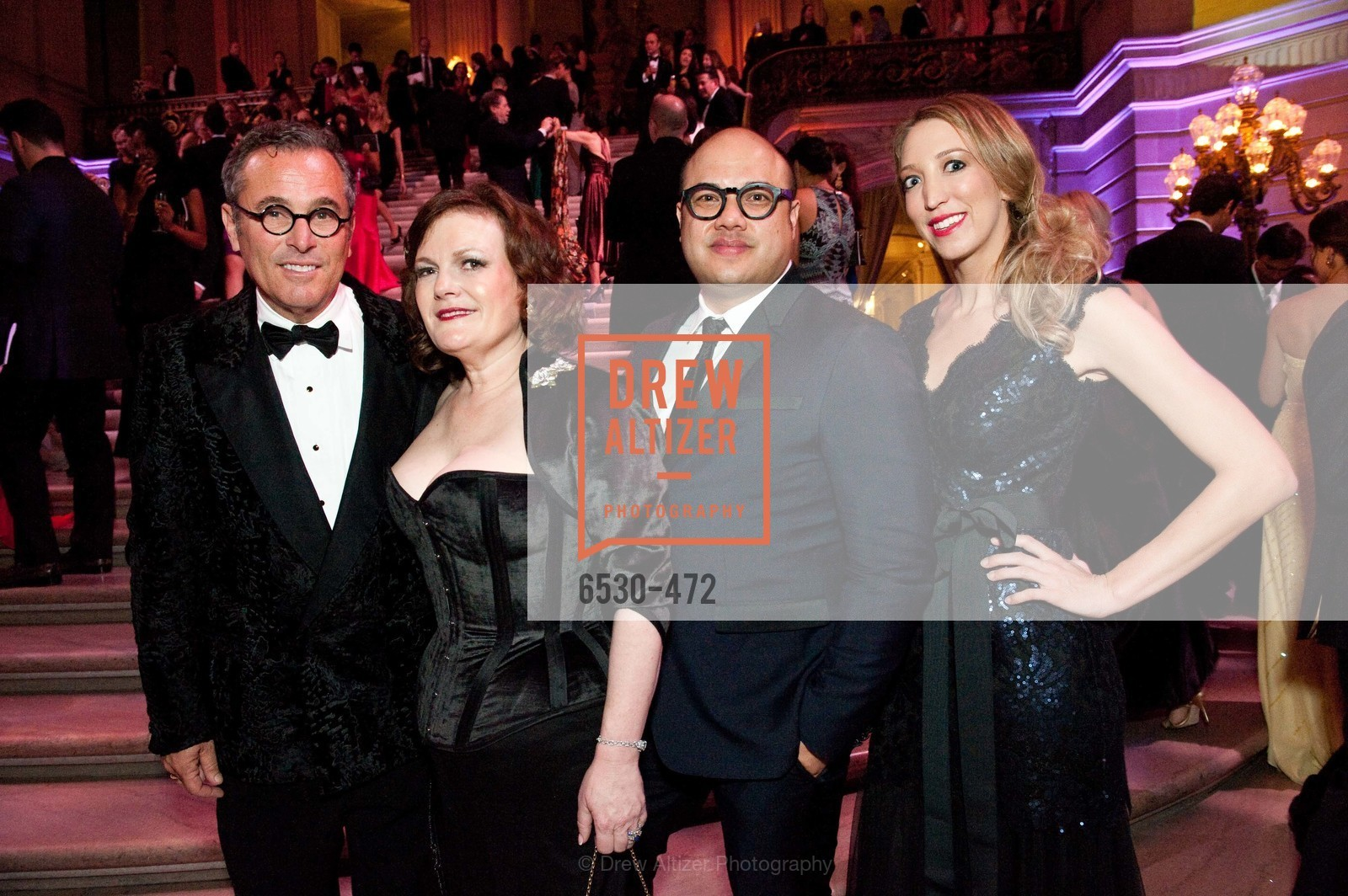 Ricky Serbin, Jennifer Raiser, Jay Phillips, Kelly Larkin, SAN FRANCISCO BALLET Opening Night Gala: PHENOMENAL - Intermission & Dinner, US. SF City Hall, January 22nd, 2014,Drew Altizer, Drew Altizer Photography, full-service event agency, private events, San Francisco photographer, photographer California