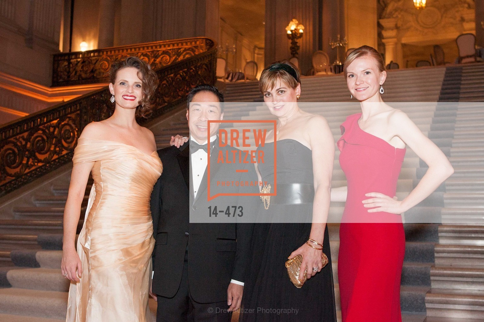 Alyson Blume, Wilson Yan, Jane Burkhard, Greer Goings, ENCORE! at San Francisco BALLET'S 2014 Season Opening Night Gala, US. US, January 22nd, 2014,Drew Altizer, Drew Altizer Photography, full-service agency, private events, San Francisco photographer, photographer california