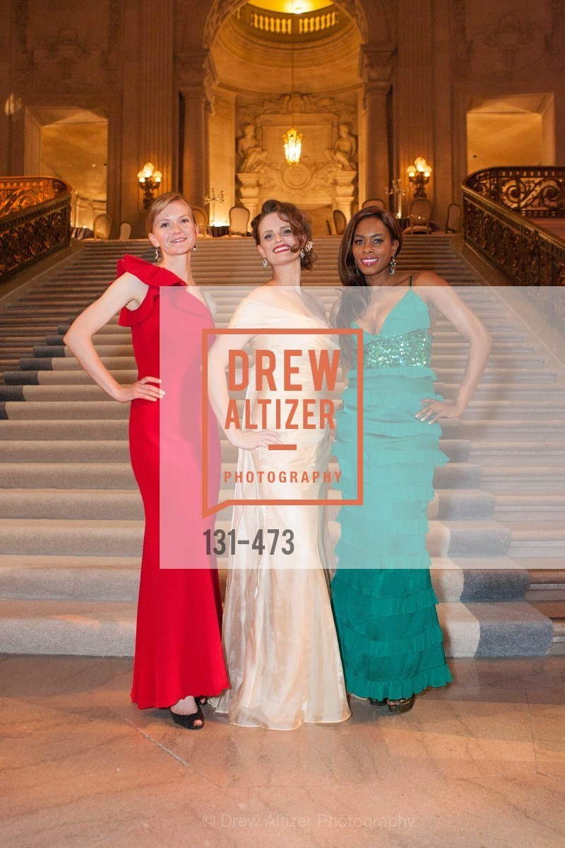 Greer Goings, Alyson Blume, Vanessa Jean Baptiste, ENCORE! at San Francisco BALLET'S 2014 Season Opening Night Gala, US. US, January 22nd, 2014