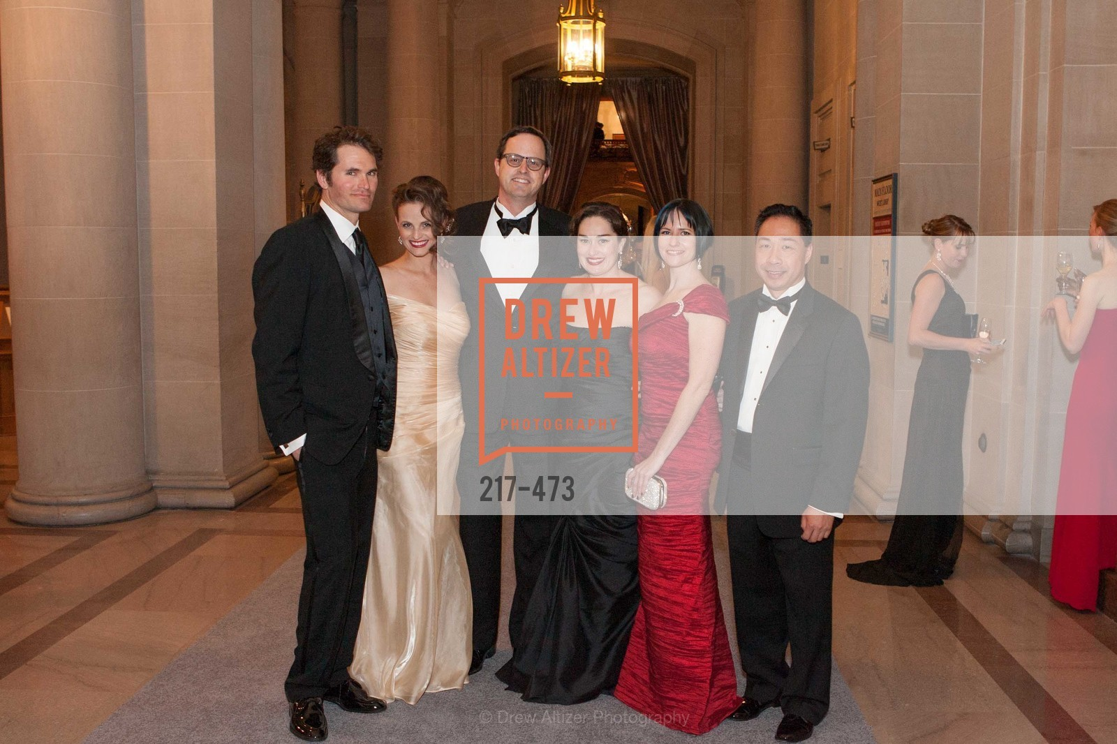 Rhett Butler, Alyson Blume, Justin Bank, Bridget Dixon Nguyen, Joanna Winter, Wilson Yan, ENCORE! at San Francisco BALLET'S 2014 Season Opening Night Gala, US. US, January 22nd, 2014,Drew Altizer, Drew Altizer Photography, full-service agency, private events, San Francisco photographer, photographer california
