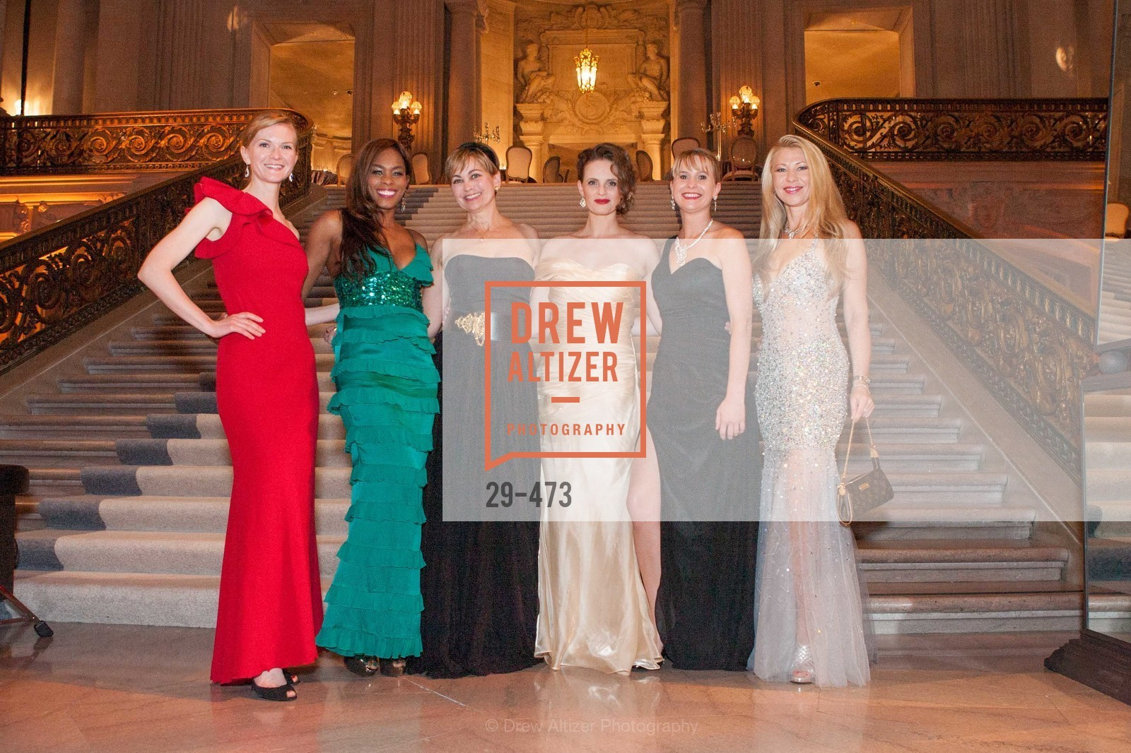 Greer Goings, Vanessa Jean Baptiste, Jane Burkhard, Alyson Blume, Kelly Cramer, Lena Gikkas, ENCORE! at San Francisco BALLET'S 2014 Season Opening Night Gala, US. US, January 22nd, 2014,Drew Altizer, Drew Altizer Photography, full-service agency, private events, San Francisco photographer, photographer california