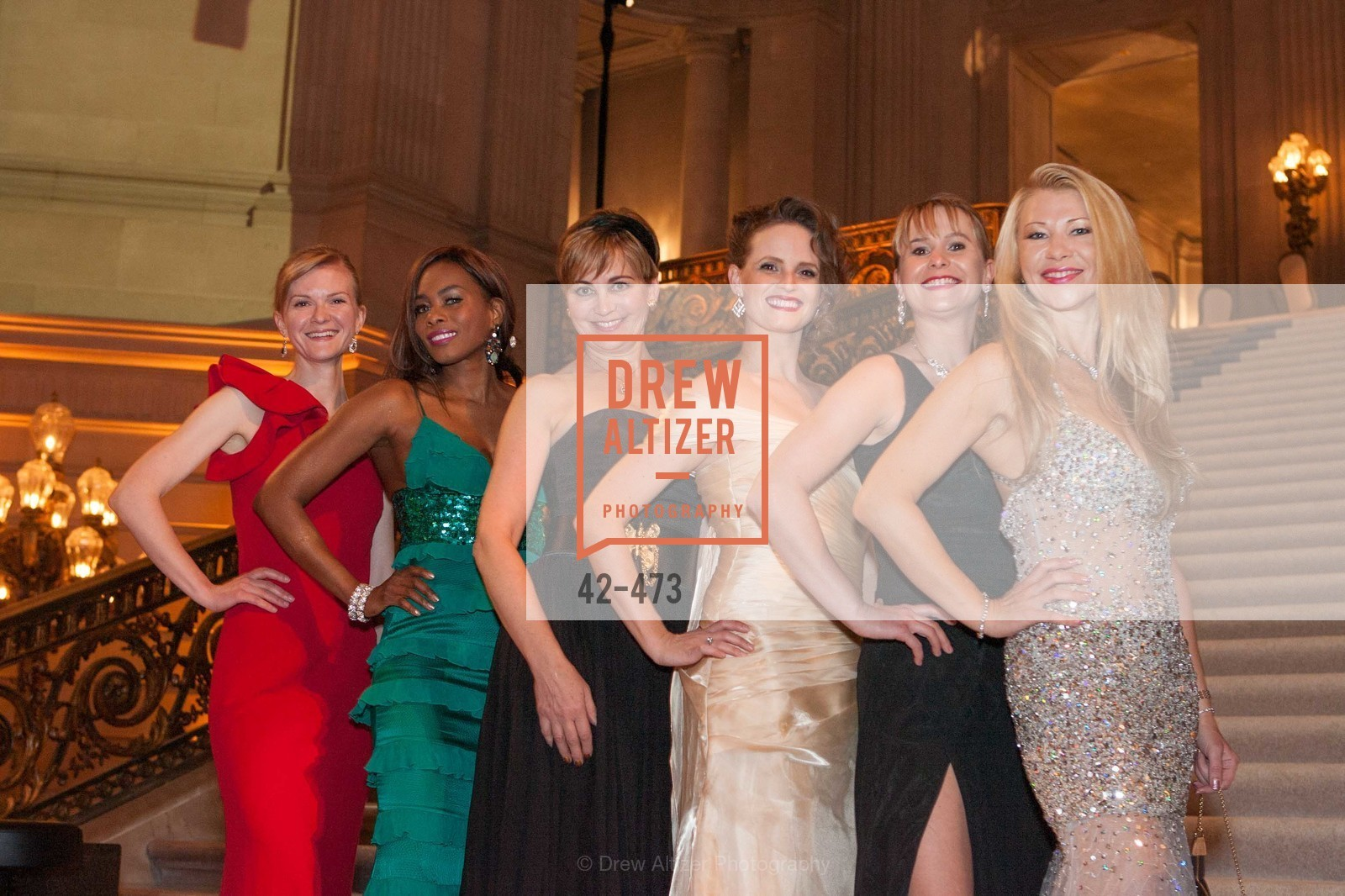 Greer Goings, Vanessa Jean Baptiste, Jane Burkhard, Alyson Blume, Kelly Cramer, Len Gikkas, ENCORE! at San Francisco BALLET'S 2014 Season Opening Night Gala, US. US, January 22nd, 2014,Drew Altizer, Drew Altizer Photography, full-service agency, private events, San Francisco photographer, photographer california