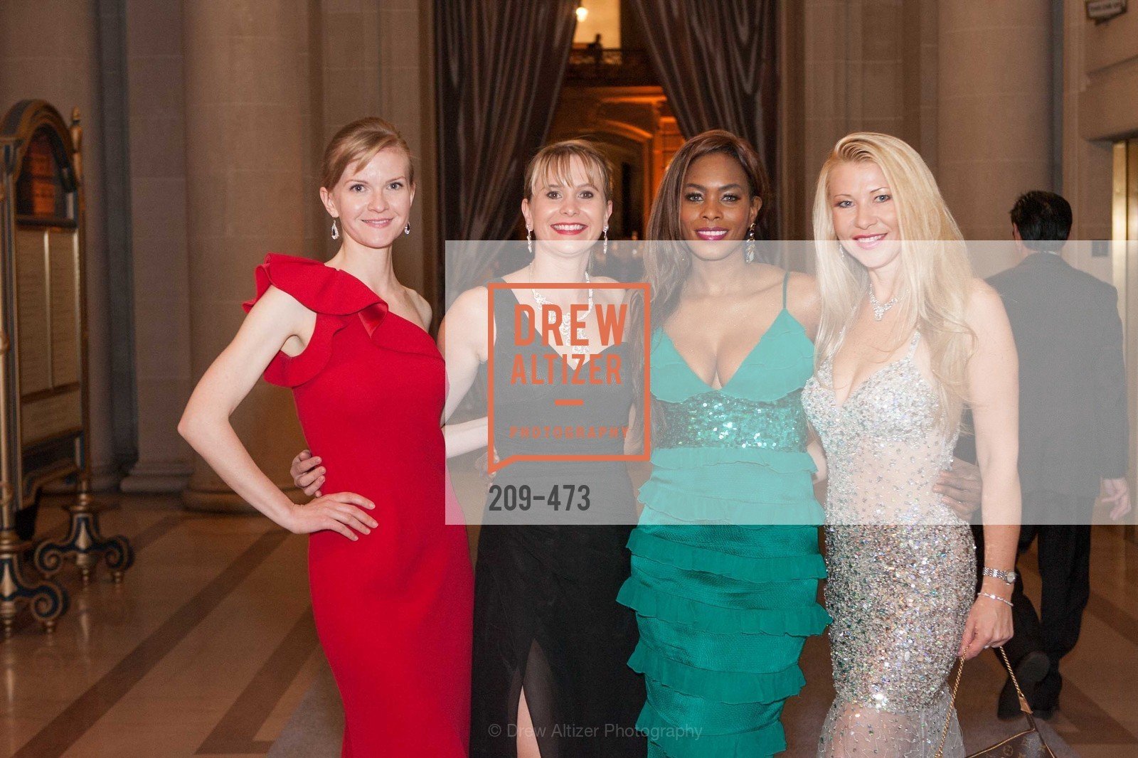Greer Goings, Kelly Cramer, Vanessa Jean Baptiste, Lena Gikkas, ENCORE! at San Francisco BALLET'S 2014 Season Opening Night Gala, US. US, January 22nd, 2014