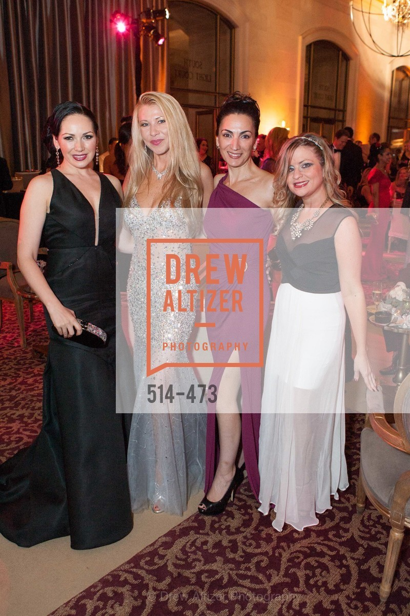 Bridget Dixon Nguyen, Lena Gikkas, Irina Pragin, Julie Hall, ENCORE! at San Francisco BALLET'S 2014 Season Opening Night Gala, US. US, January 22nd, 2014,Drew Altizer, Drew Altizer Photography, full-service agency, private events, San Francisco photographer, photographer california