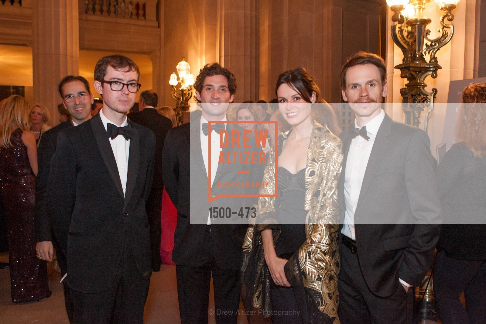 Edward King, Justin Fichelson, Katrina Barlow, Shawn Estes, ENCORE! at San Francisco BALLET'S 2014 Season Opening Night Gala, US. US, January 22nd, 2014,Drew Altizer, Drew Altizer Photography, full-service agency, private events, San Francisco photographer, photographer california