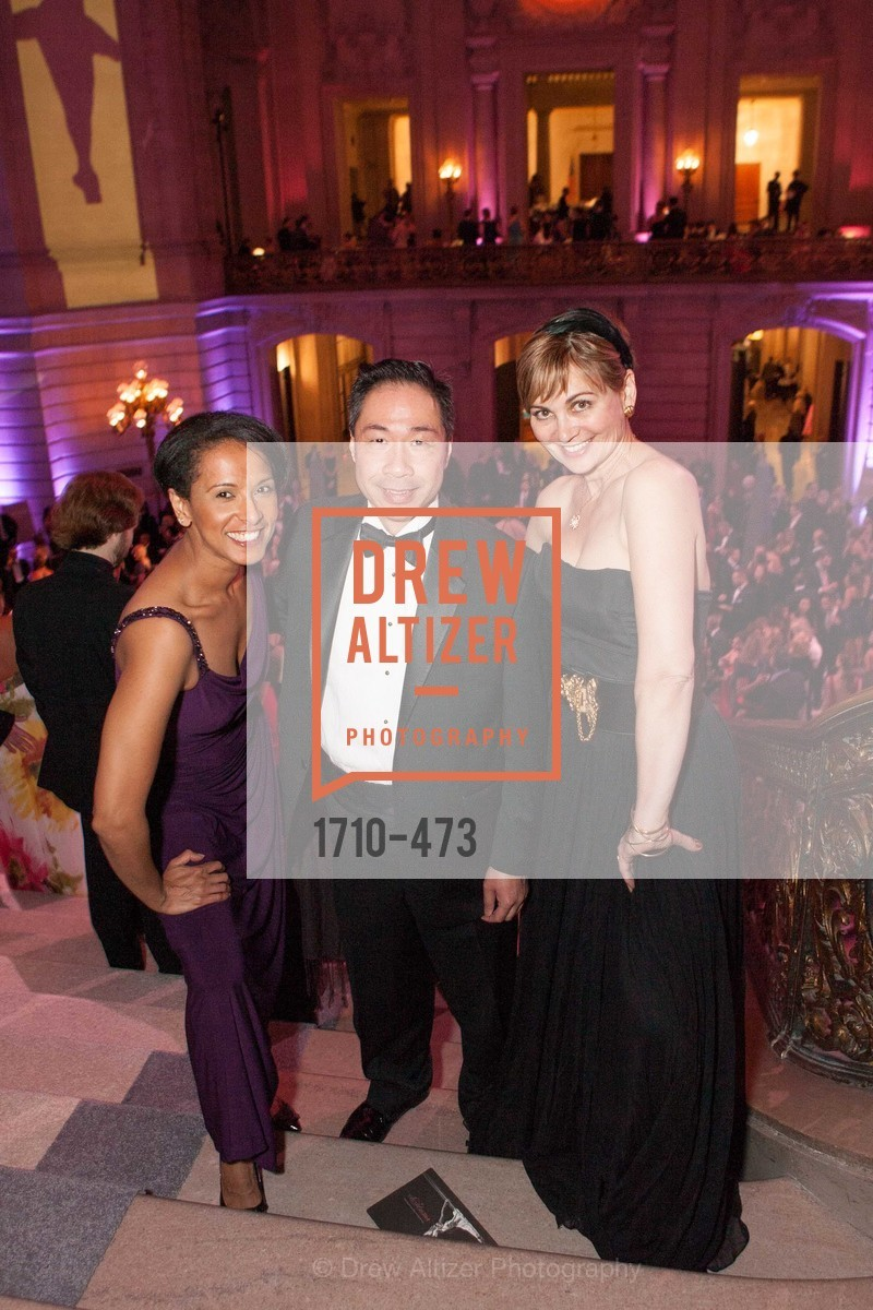 Lydia Haile, Wilson Yan, Jane Burkhard, ENCORE! at San Francisco BALLET'S 2014 Season Opening Night Gala, US. US, January 22nd, 2014,Drew Altizer, Drew Altizer Photography, full-service agency, private events, San Francisco photographer, photographer california