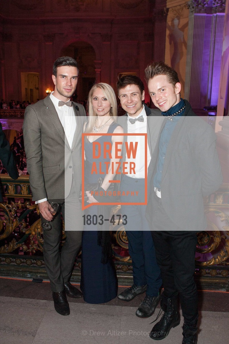 Anzor Makhardze, Margaret Karl, Robert Dekkers, Christian Squires, ENCORE! at San Francisco BALLET'S 2014 Season Opening Night Gala, US. US, January 22nd, 2014,Drew Altizer, Drew Altizer Photography, full-service agency, private events, San Francisco photographer, photographer california
