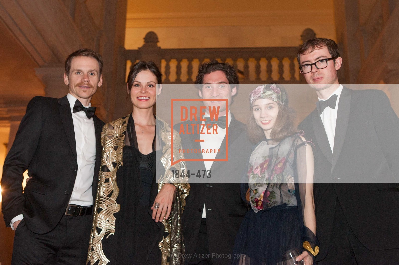 Shawn Estes, Katrina Barlow, Justin Fichelson, Maria Kochetkova, Edward King, ENCORE! at San Francisco BALLET'S 2014 Season Opening Night Gala, US. US, January 22nd, 2014,Drew Altizer, Drew Altizer Photography, full-service agency, private events, San Francisco photographer, photographer california