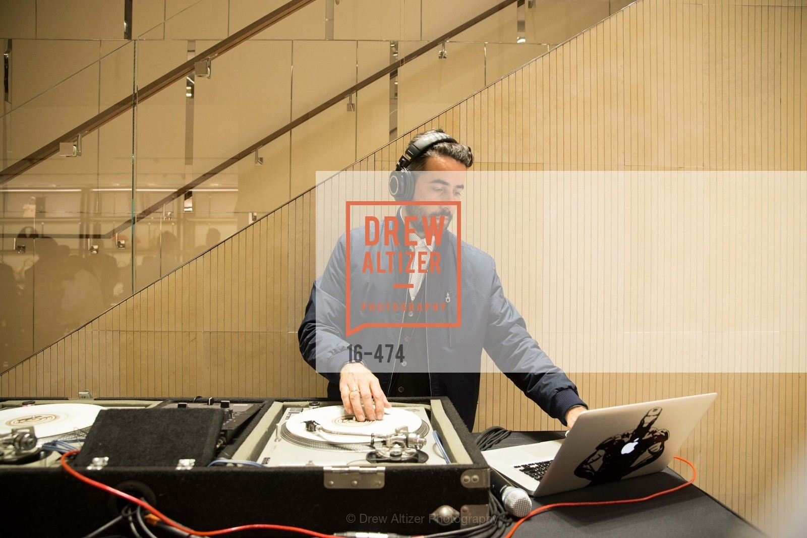 Dj, SALVATORE FERRAGAMO San Francisco Re-Opening, US. US, January 23rd, 2014,Drew Altizer, Drew Altizer Photography, full-service agency, private events, San Francisco photographer, photographer california