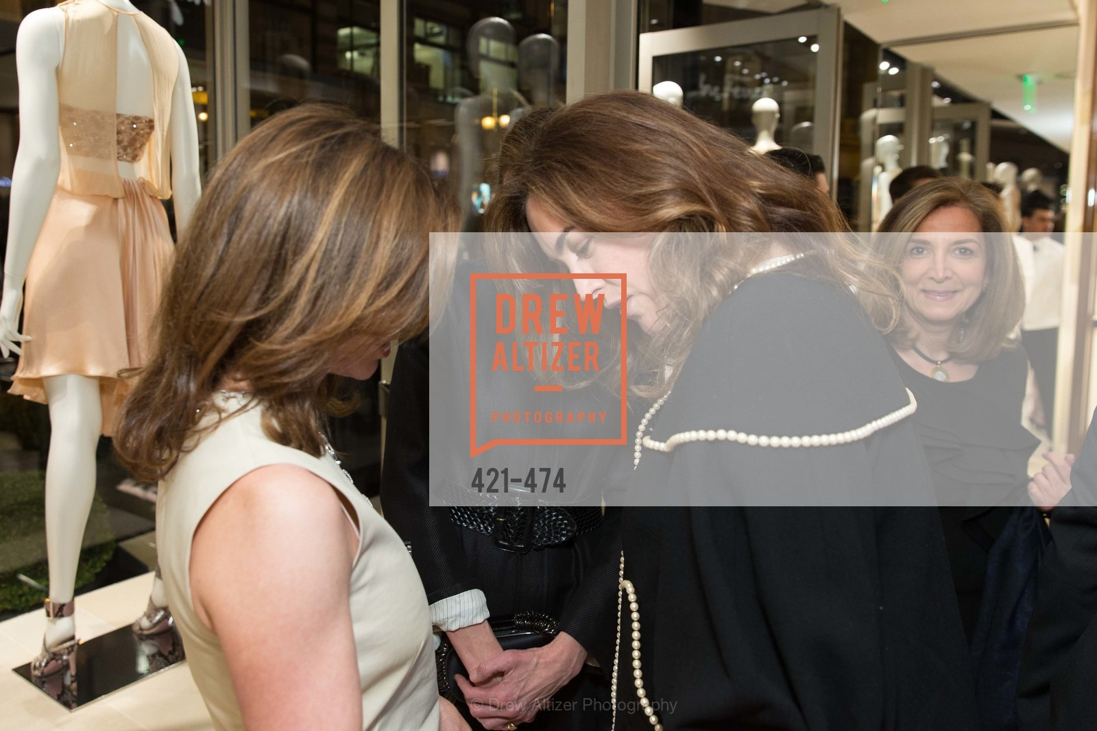 Carol Bonnie, Leslie Thieriot, Alexis Traina, SALVATORE FERRAGAMO San Francisco Re-Opening, US. US, January 23rd, 2014