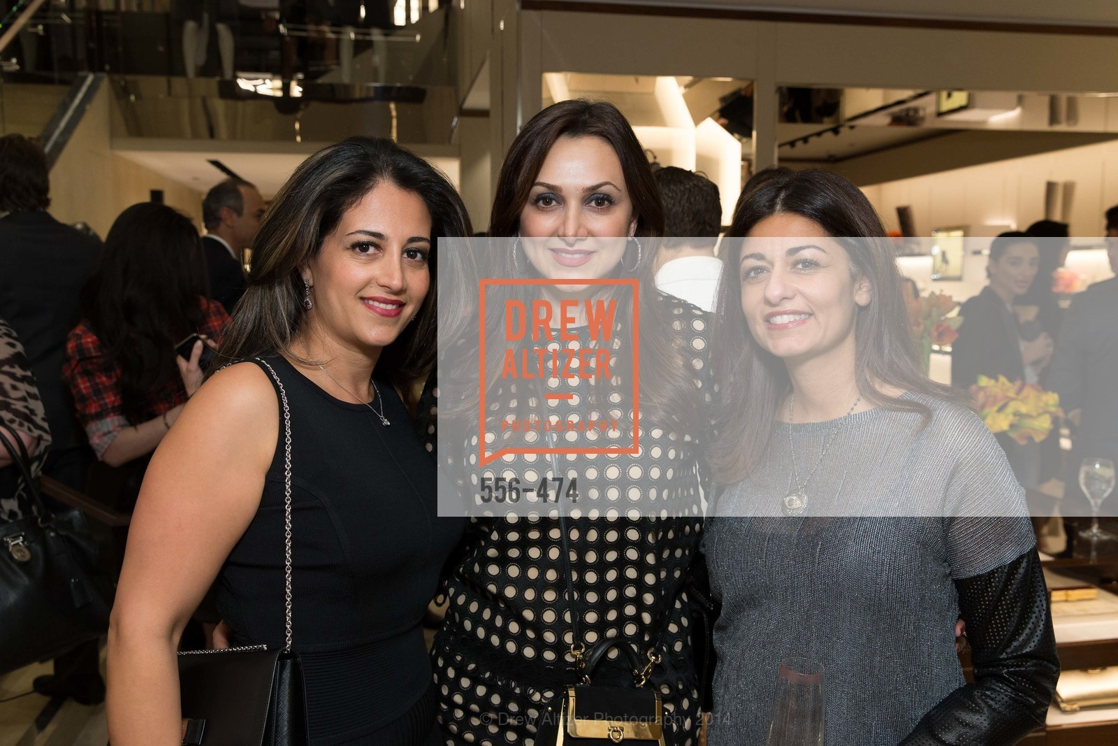 Sanaz Malek, Bita Daryabari, Laleh Kazemi, SALVATORE FERRAGAMO San Francisco Re-Opening, US. US, January 23rd, 2014,Drew Altizer, Drew Altizer Photography, full-service agency, private events, San Francisco photographer, photographer california