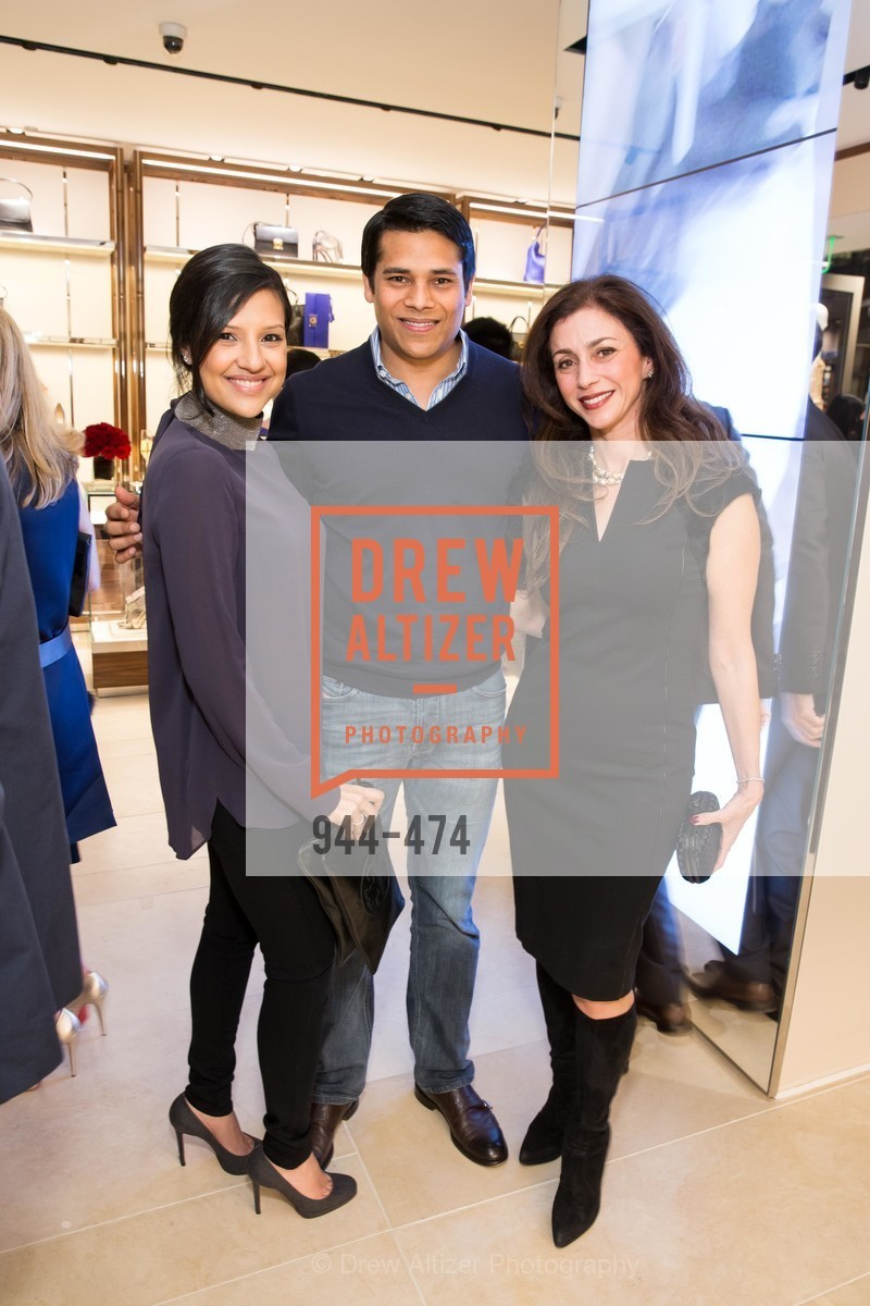 Megha Tolia, Nirav Tolia, Maryam Muduroglu, SALVATORE FERRAGAMO San Francisco Re-Opening, US. US, January 23rd, 2014,Drew Altizer, Drew Altizer Photography, full-service agency, private events, San Francisco photographer, photographer california