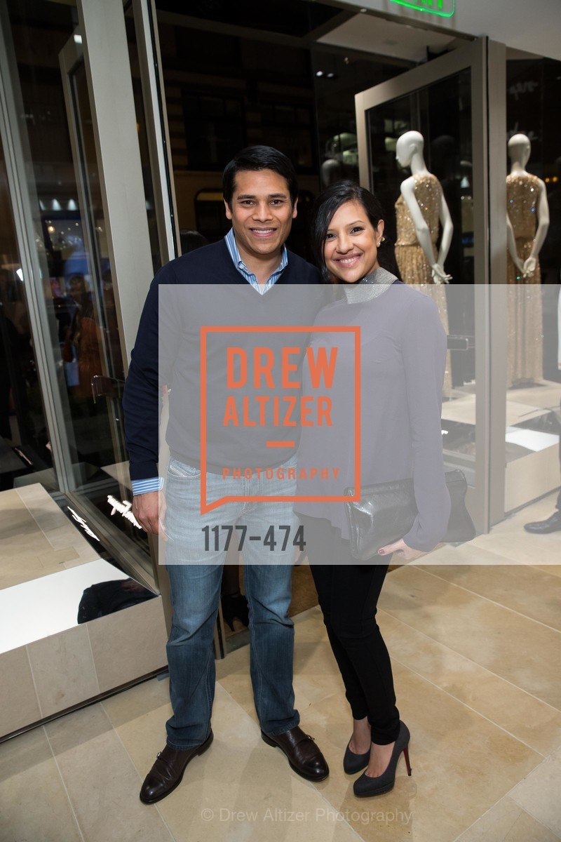 Nirav Tolia, Megha Tolia, SALVATORE FERRAGAMO San Francisco Re-Opening, US. US, January 23rd, 2014,Drew Altizer, Drew Altizer Photography, full-service agency, private events, San Francisco photographer, photographer california