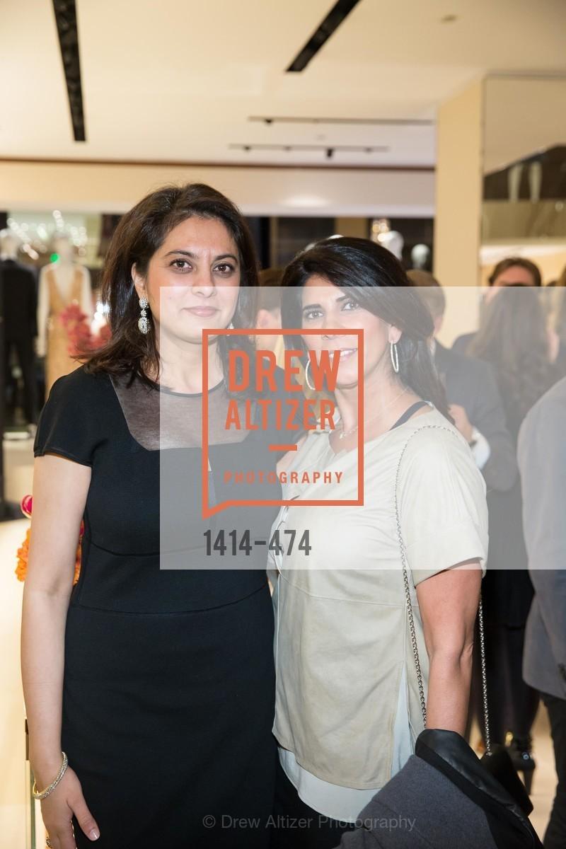 Nona Rai, Sujata Pherwani, SALVATORE FERRAGAMO San Francisco Re-Opening, US. US, January 23rd, 2014