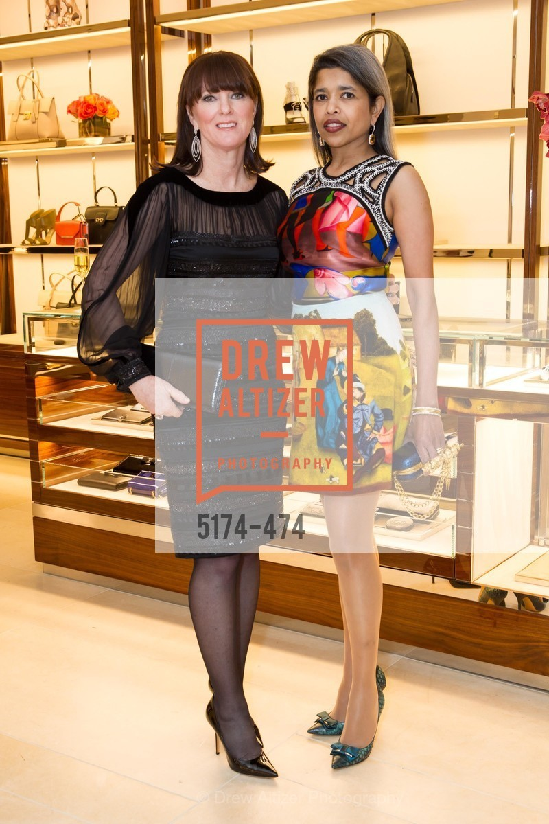 Allison Speer, Deepa Pakianathan, SALVATORE FERRAGAMO San Francisco Re-Opening, US. US, January 23rd, 2014