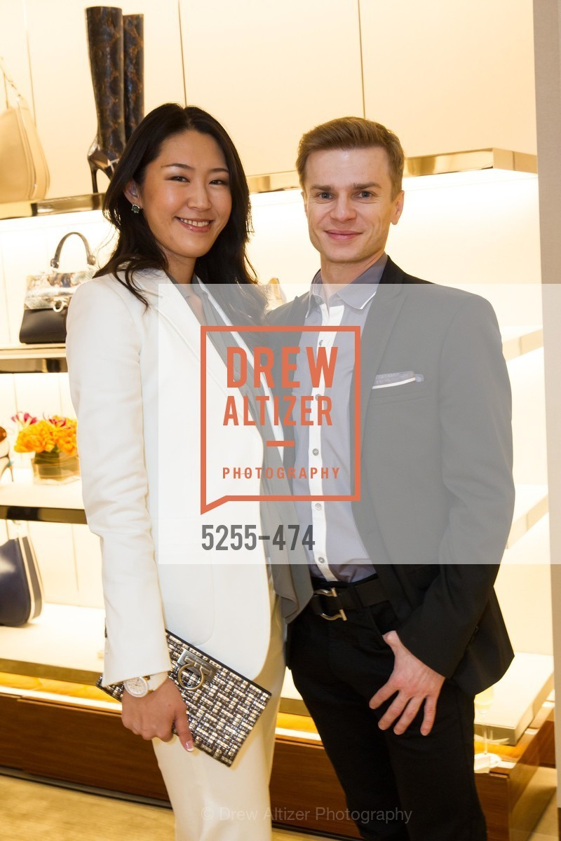 Miho Nedvigin, Gennadi Nedvigin, SALVATORE FERRAGAMO San Francisco Re-Opening, US. US, January 23rd, 2014,Drew Altizer, Drew Altizer Photography, full-service agency, private events, San Francisco photographer, photographer california