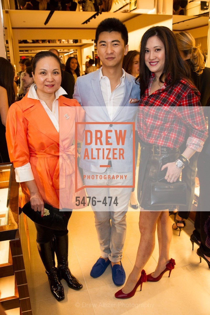 Pei Zhang, Tom Liu, Jessica Hon, SALVATORE FERRAGAMO San Francisco Re-Opening, US. US, January 23rd, 2014,Drew Altizer, Drew Altizer Photography, full-service agency, private events, San Francisco photographer, photographer california