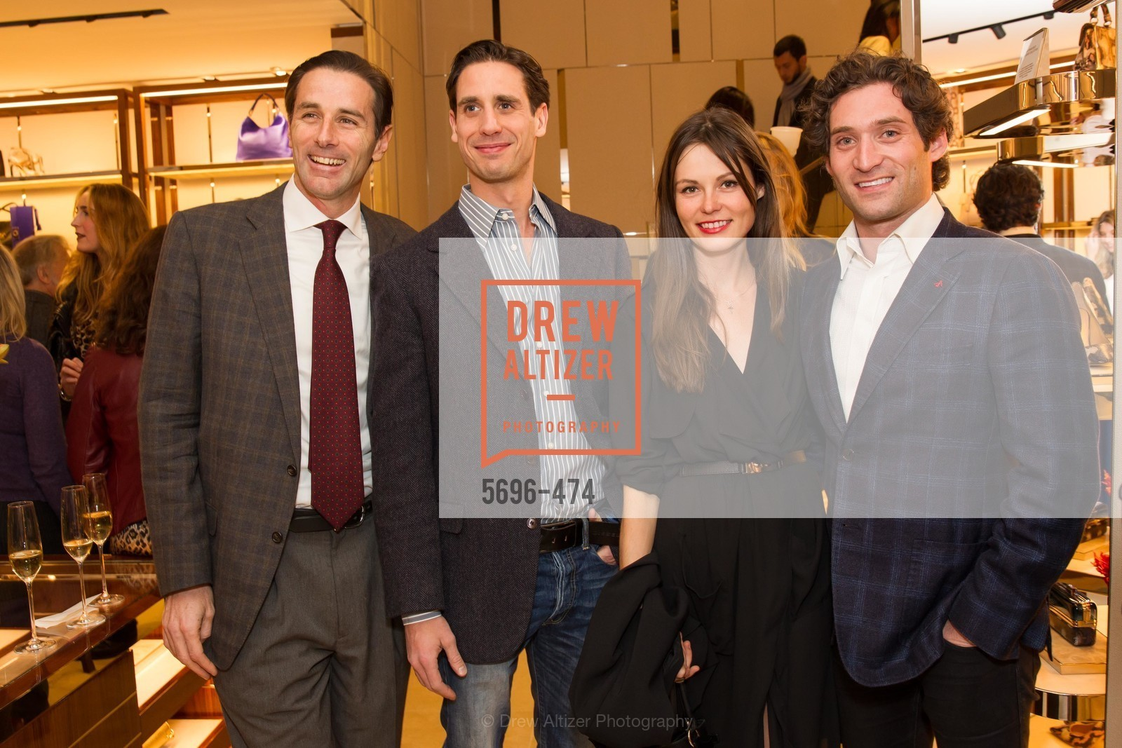 Paul Pelosi, Andrei Karkar, Katerina Barilov, Justin Fichelson, SALVATORE FERRAGAMO San Francisco Re-Opening, US. US, January 23rd, 2014,Drew Altizer, Drew Altizer Photography, full-service agency, private events, San Francisco photographer, photographer california