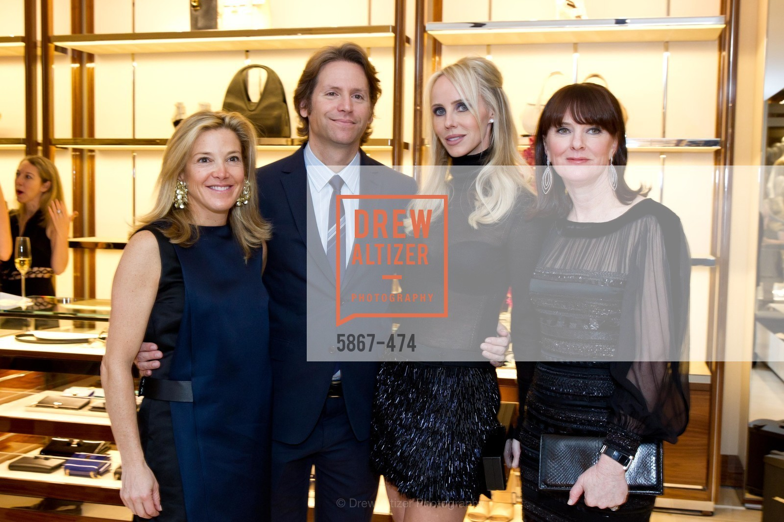 Kathryn Lasater, Trevor Traina, Vanessa Getty, Allison Speer, SALVATORE FERRAGAMO San Francisco Re-Opening, US. US, January 23rd, 2014,Drew Altizer, Drew Altizer Photography, full-service event agency, private events, San Francisco photographer, photographer California