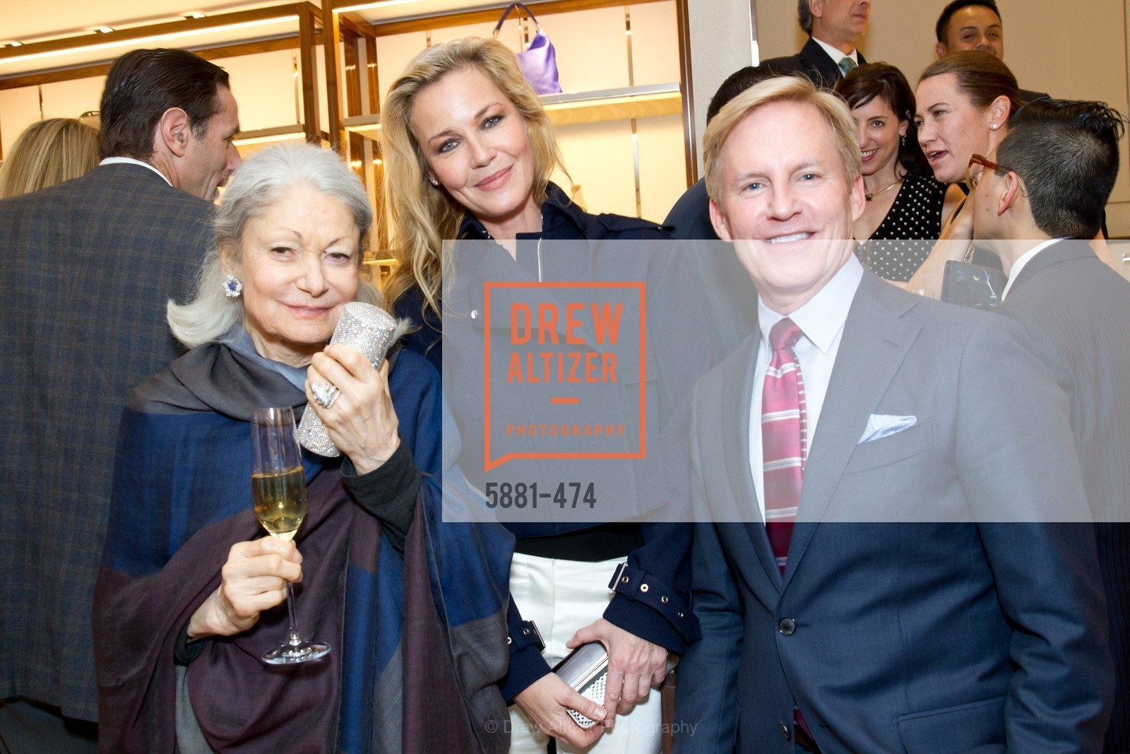 Denise Hale, Connie Nielsen, Peter Christman, SALVATORE FERRAGAMO San Francisco Re-Opening, US. US, January 23rd, 2014,Drew Altizer, Drew Altizer Photography, full-service agency, private events, San Francisco photographer, photographer california
