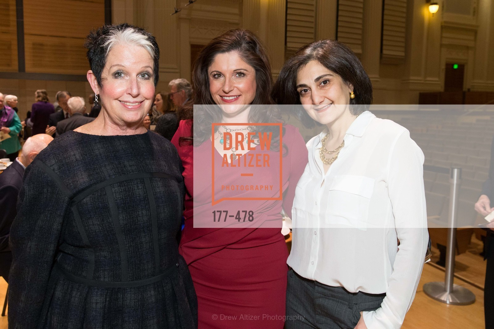 Karen Kubin, Barbara Walkowski, Fati Farmanfarmian, SAN FRANCISCO CONSERVATORY OF MUSIC'S 2014 Fanfare Luncheon, US. Conservatory of Music, January 24th, 2014,Drew Altizer, Drew Altizer Photography, full-service agency, private events, San Francisco photographer, photographer california