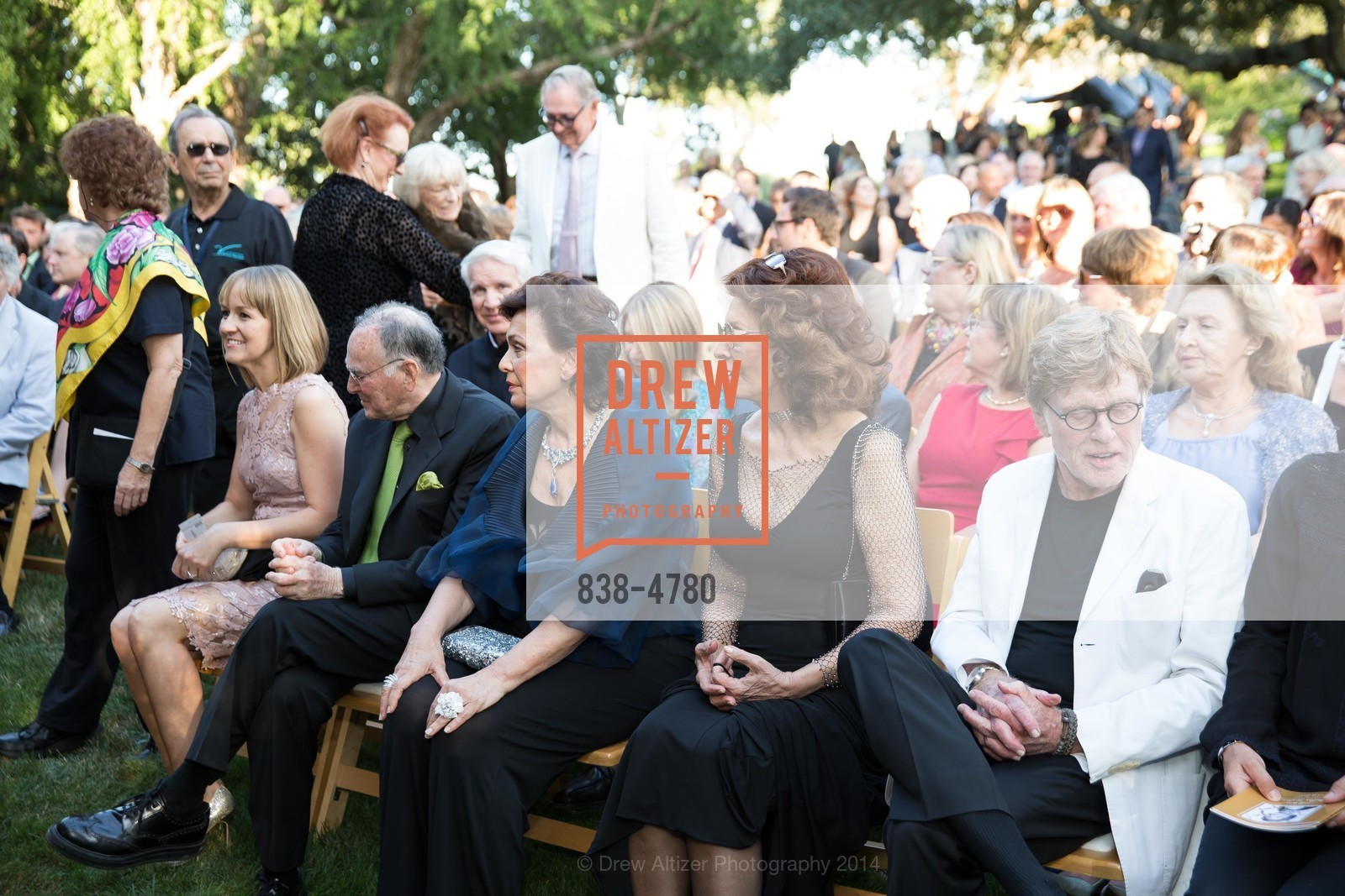 Jan Shrem, Maria Manetti Shrem, Sophia Loren, Robert Redford, Photo #838-4780