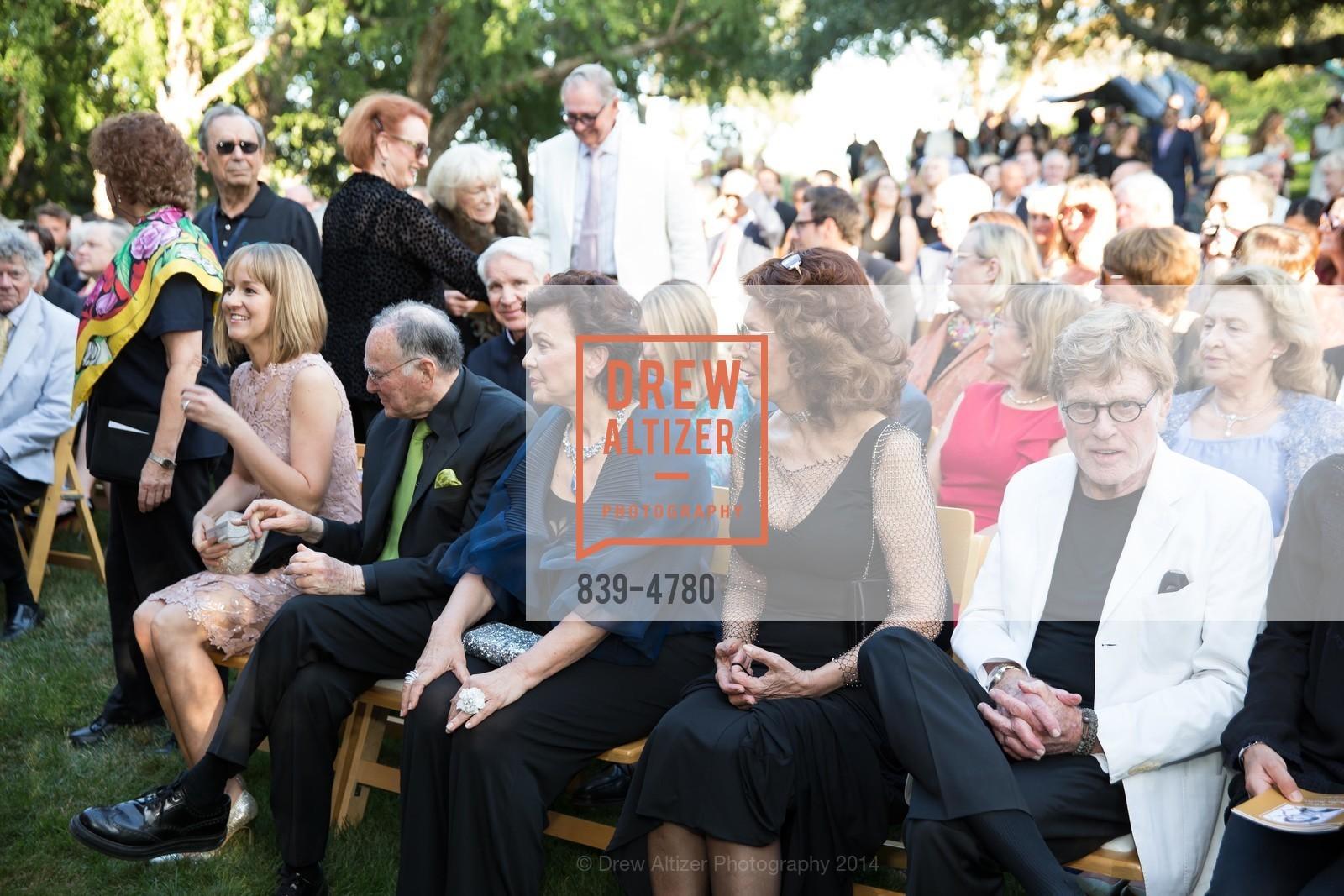 Jan Shrem, Maria Manetti Shrem, Sophia Loren, Robert Redford, Photo #839-4780