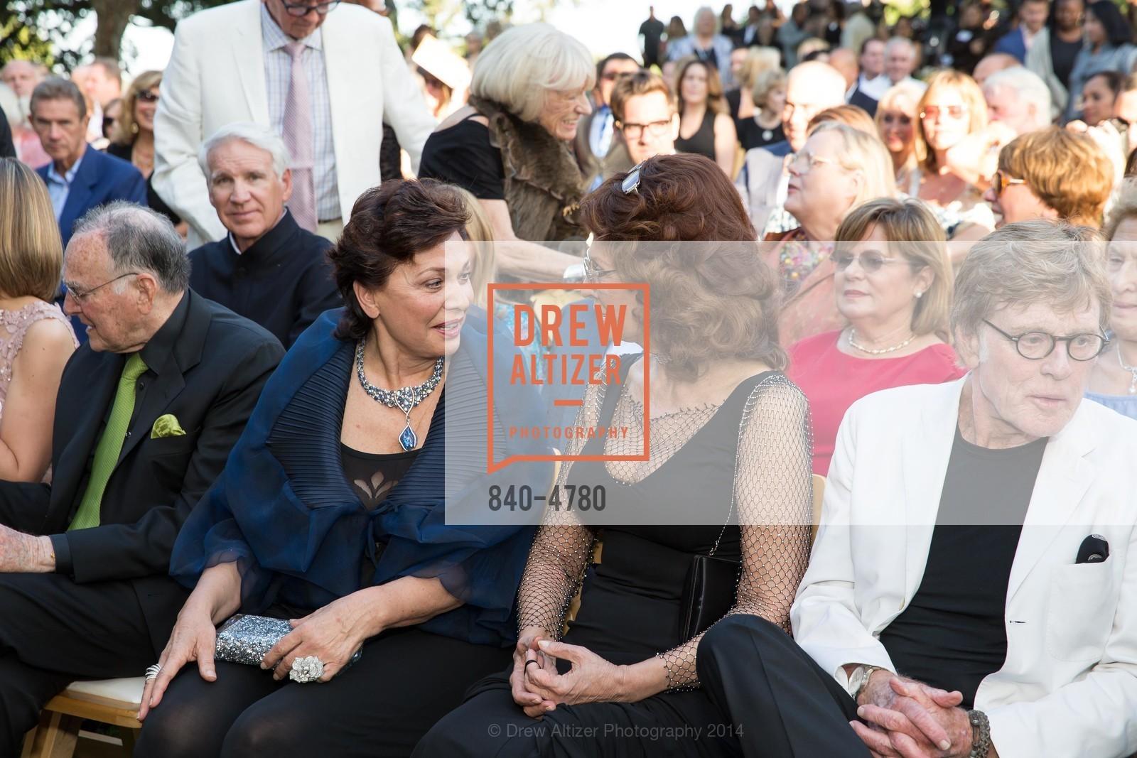 Jan Shrem, Maria Manetti Shrem, Sophia Loren, Robert Redford, Photo #840-4780