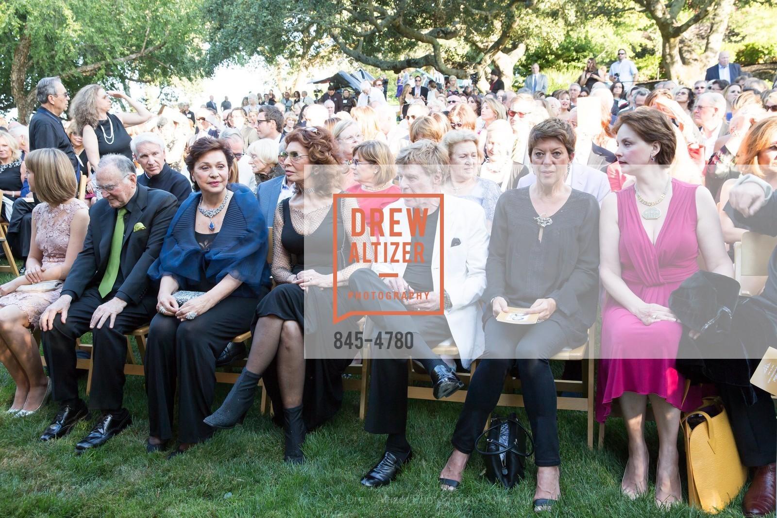 Jan Shrem, Maria Manetti Shrem, Sophia Loren, Robert Redford, Sibylle Szaggars, Nina Kotova, Photo #845-4780