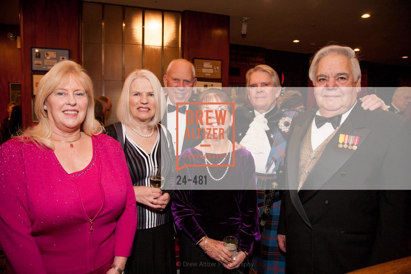Suzanne Phelps, Dorothy McCorkindale, Anne Zucchi, Russell Wallace, Selby Haussermann, Frank Wentholt, ST. ANDREW'S SOCIETY OF SAN FRANCISCO'S Traditional Burns Night Supper 2014, US. US, January 25th, 2014,Drew Altizer, Drew Altizer Photography, full-service event agency, private events, San Francisco photographer, photographer California