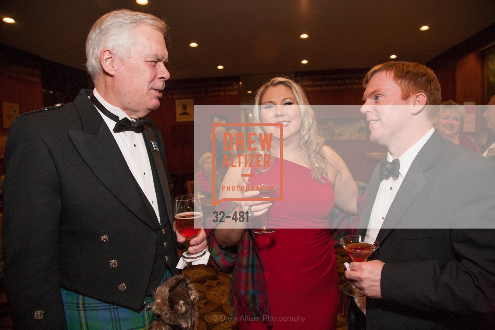Kent Walker, Lisa McCracken, Russell Hattig, ST. ANDREW'S SOCIETY OF SAN FRANCISCO'S Traditional Burns Night Supper 2014, US. US, January 25th, 2014,Drew Altizer, Drew Altizer Photography, full-service agency, private events, San Francisco photographer, photographer california
